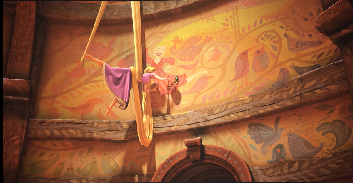 RAPUNZEL PAINTING HER MURALS //FRAME FROM THE MOVIE TANGLED