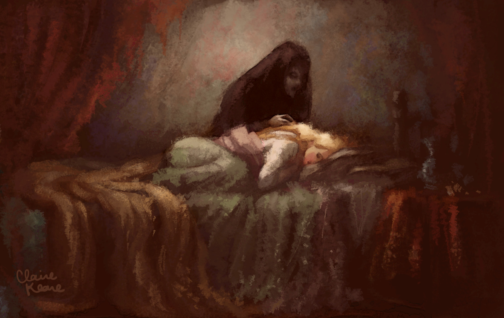 RAPUNZEL AND MOTHER GOTHEL // VISUAL DEVELOPMENT FOR TANGLED