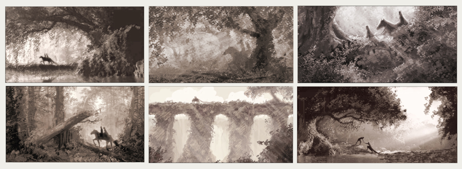 FOREST WALK SKETCHES //VISUAL DEVELOPMENT FOR TANGLED
