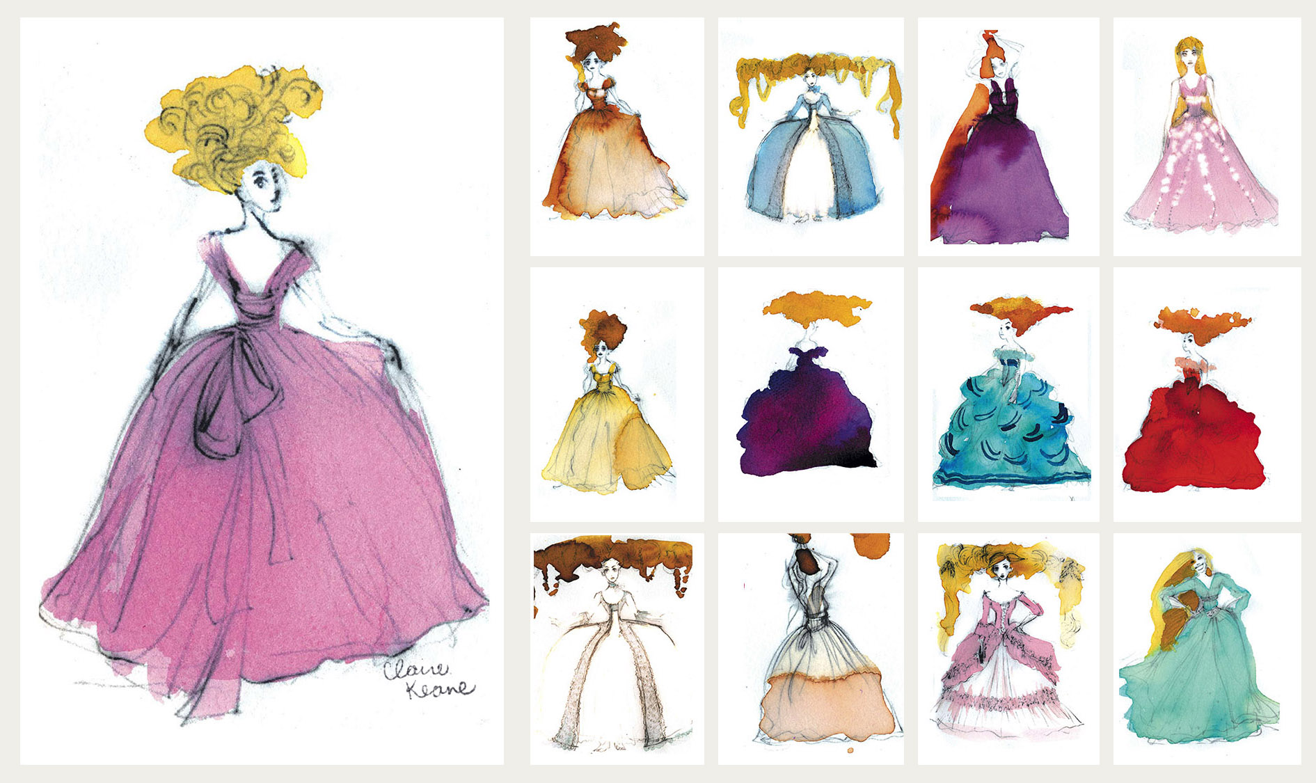 OVER-THE-TOP FAIRYTALE COSTUME DESIGN //VISUAL DEVELOPMENT FOR TANGLED /RAPUNZEL UNBRAIDED