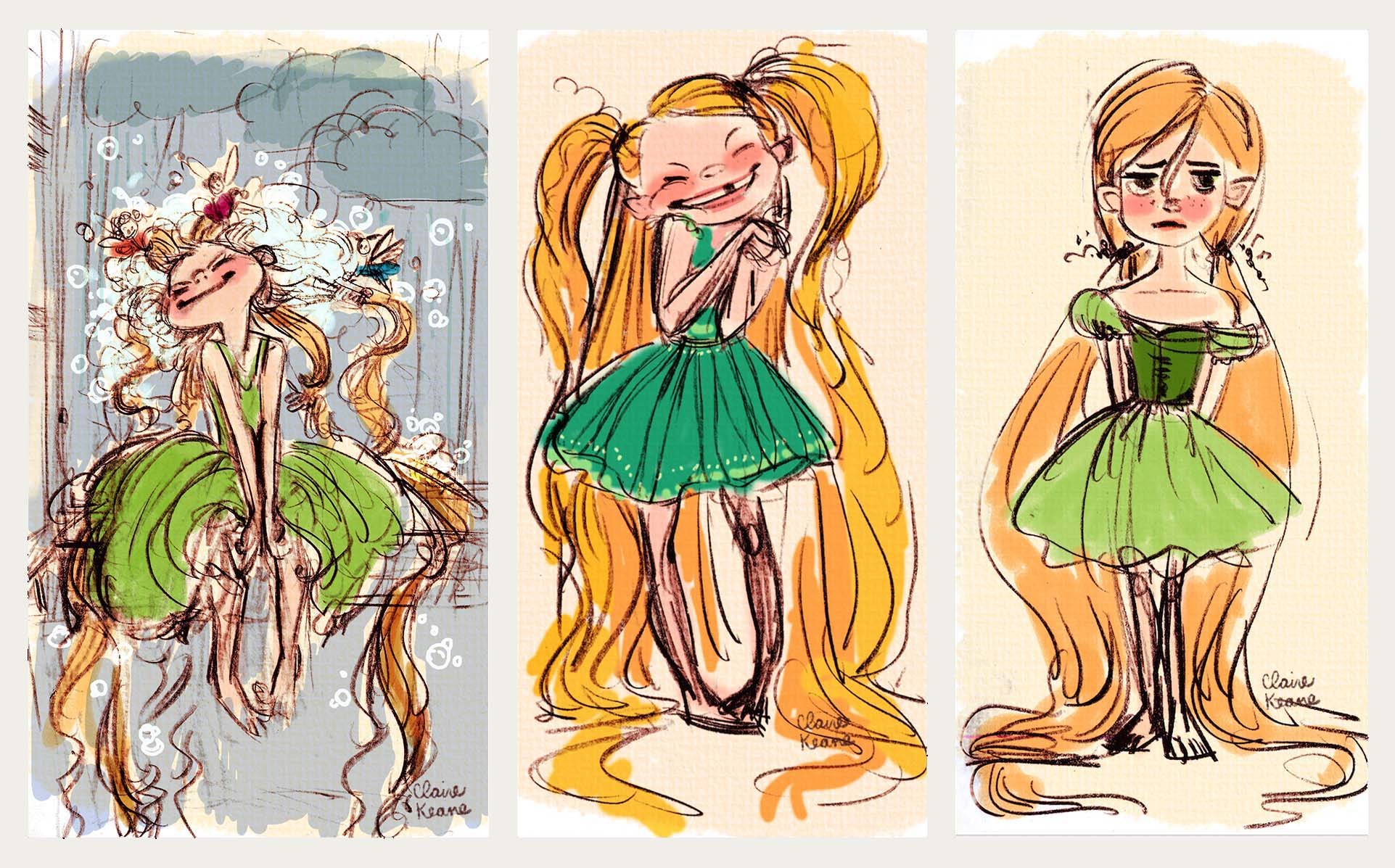 LITTLE RAPUNZEL CHARACTER DESIGN // VISUAL DEVELOPMENT FOR TANGLED