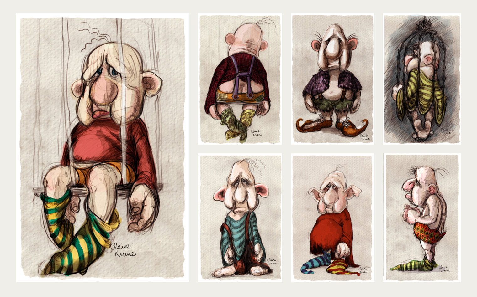 NORBERT CHARACTER - COSTUME DESIGN // VISUAL DEVELOPMENT FOR TANGLED / RAPUNZEL UNBRAIDED