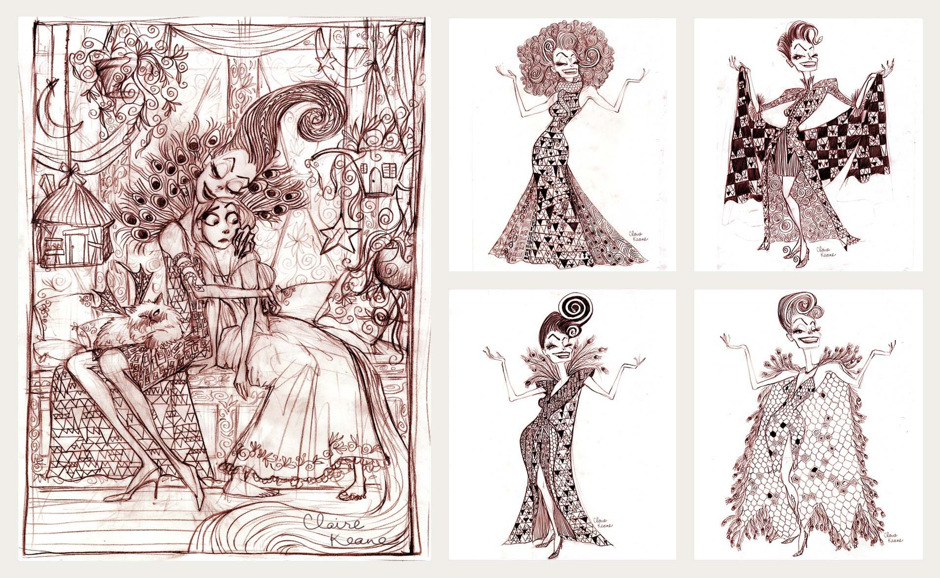 GOTHEL COSTUME DESIGN INSPIRED BY KLIMT  // VISUAL DEVELOPMENT FOR TANGLED / RAPUNZEL UNBRAIDED