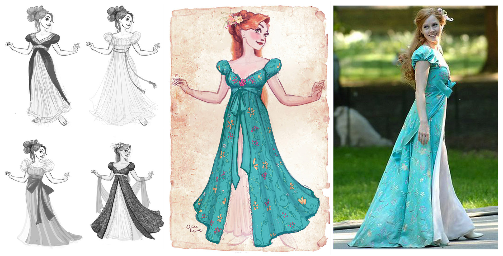 GISELLE COSTUME DESIGN / AMY ADAMS //VISUAL DEVELOPMENT FOR ENCHANTED