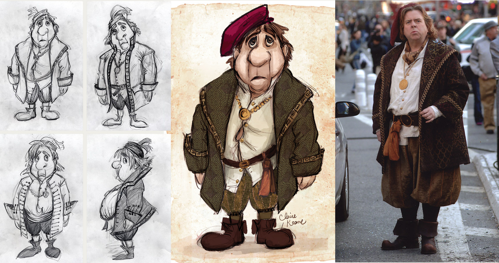 NATHANIEL COSTUME DESIGN / TIMOTHY SPALL //VISUAL DEVELOPMENT FOR ENCHANTED
