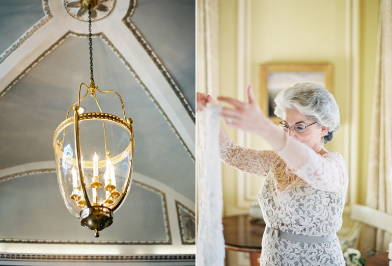 Venue: Meridian House |Florals: Holly Chapple Flowers |Catering: The Catering Company of Washington |Dress: Sarah Janks |Veil: Reem Acra |Groom's Tux: J. Crew | Velvet Bowtie: Bull and Moose |Bridesmaids' Dresses: BCBG and  Adrianna Papell  |Invitations: Bella Figura