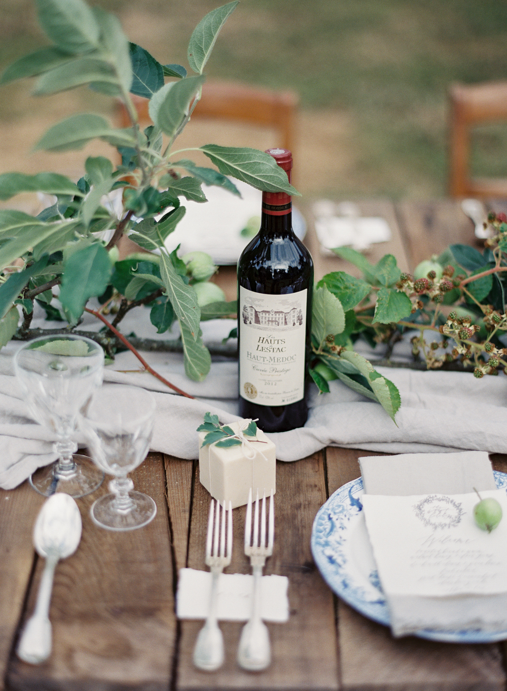 Vicki Grafton Photography | Fine Art Film Destination Wedding Photographer | Chateau Wedding  | French countryside dinner at Chateau de Bouthonvilliers
