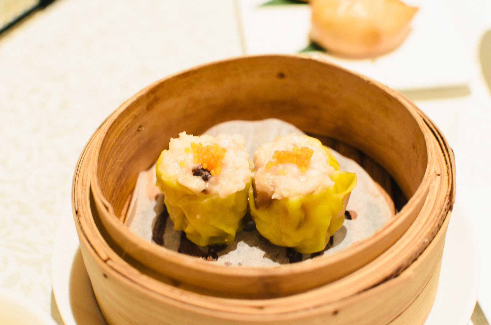 Steamed Pork Dumplings with Fish Roe (鱼子蒸烧卖)