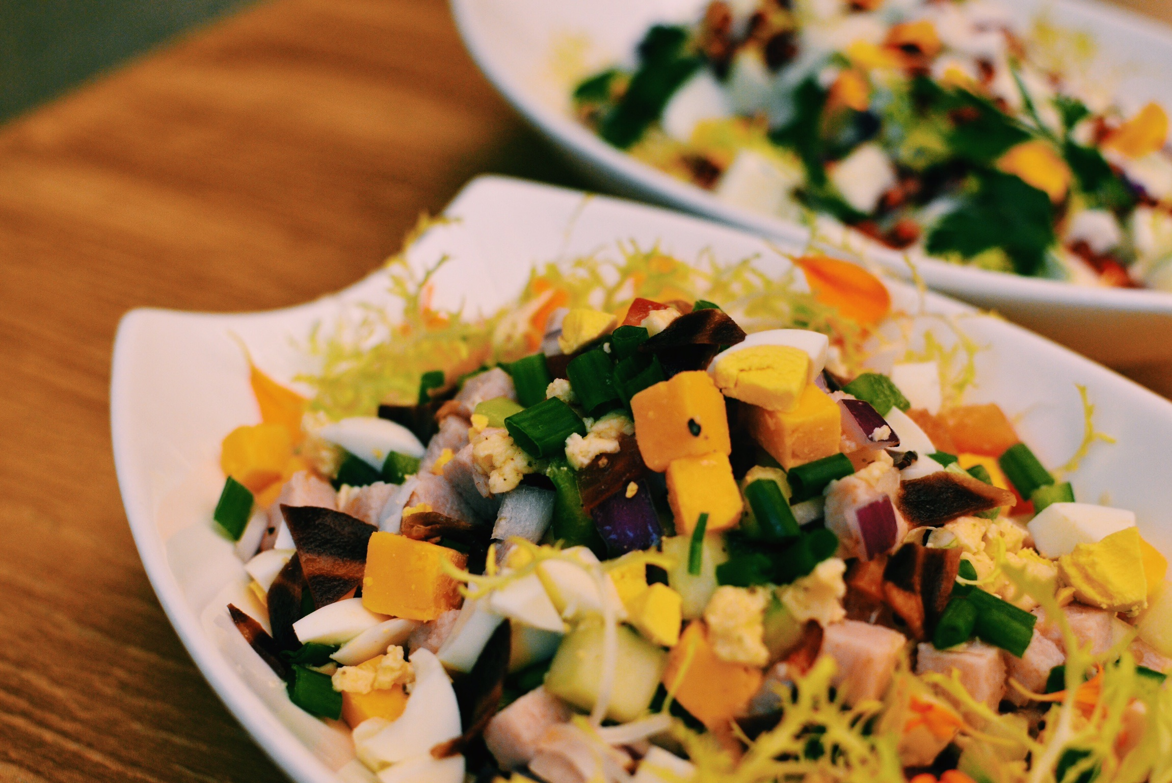 Crowne Plaza Changi Airport Chopped Salad with Smoked Turkey Ham and Cheddar Cheese