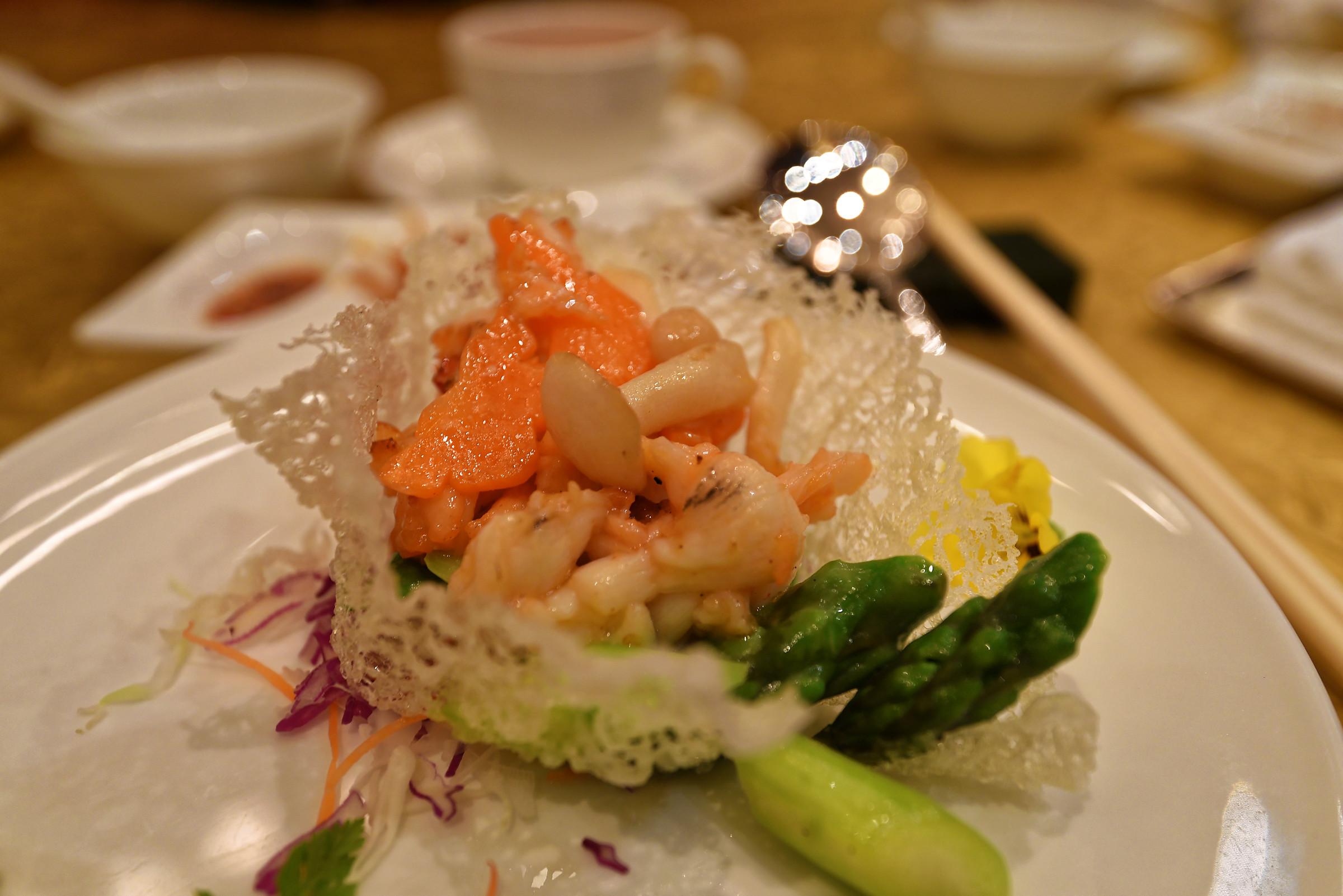 Sautéed Lobster served in Crispy Rice Basket