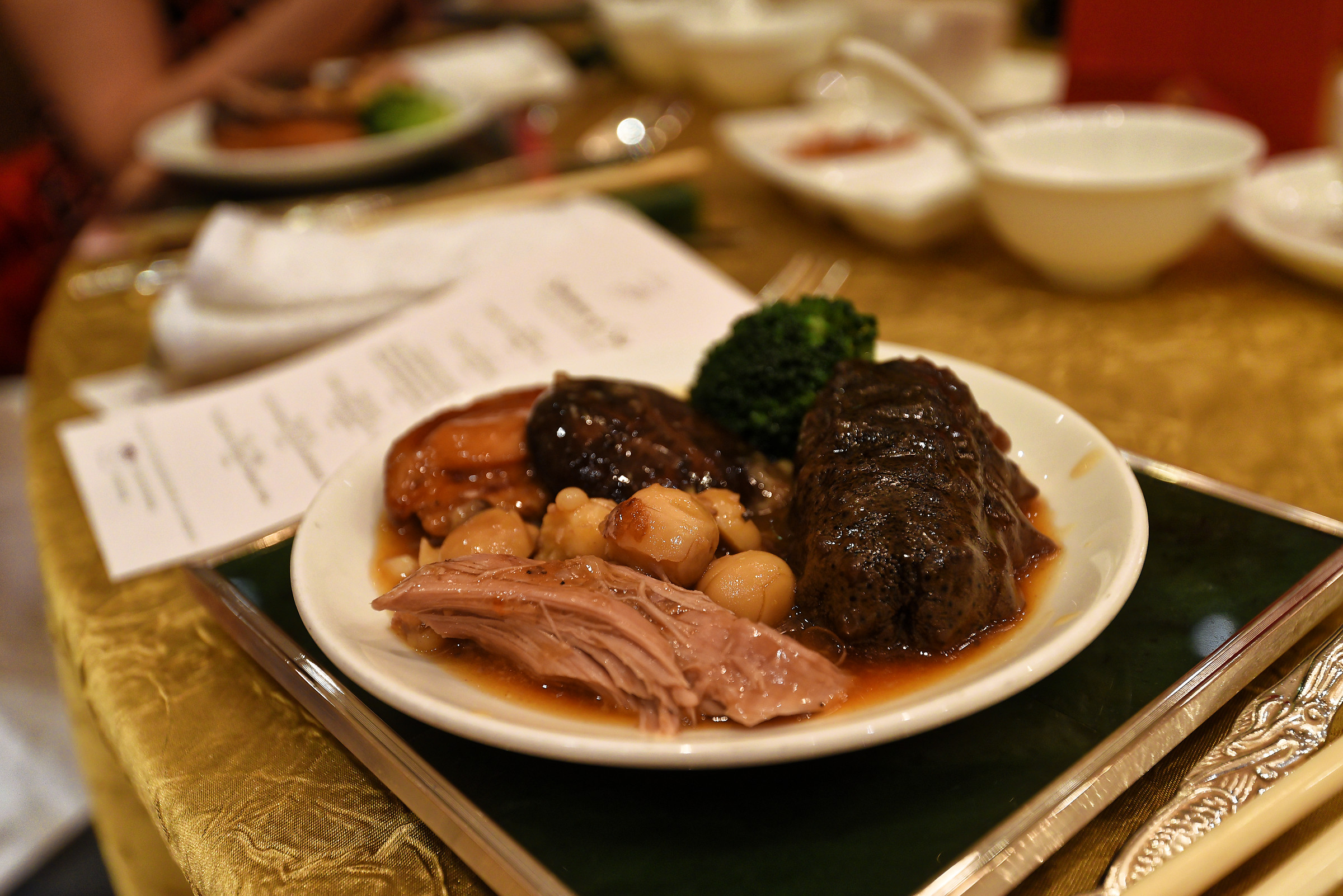 'Eight Treasures' Duck with Abalone