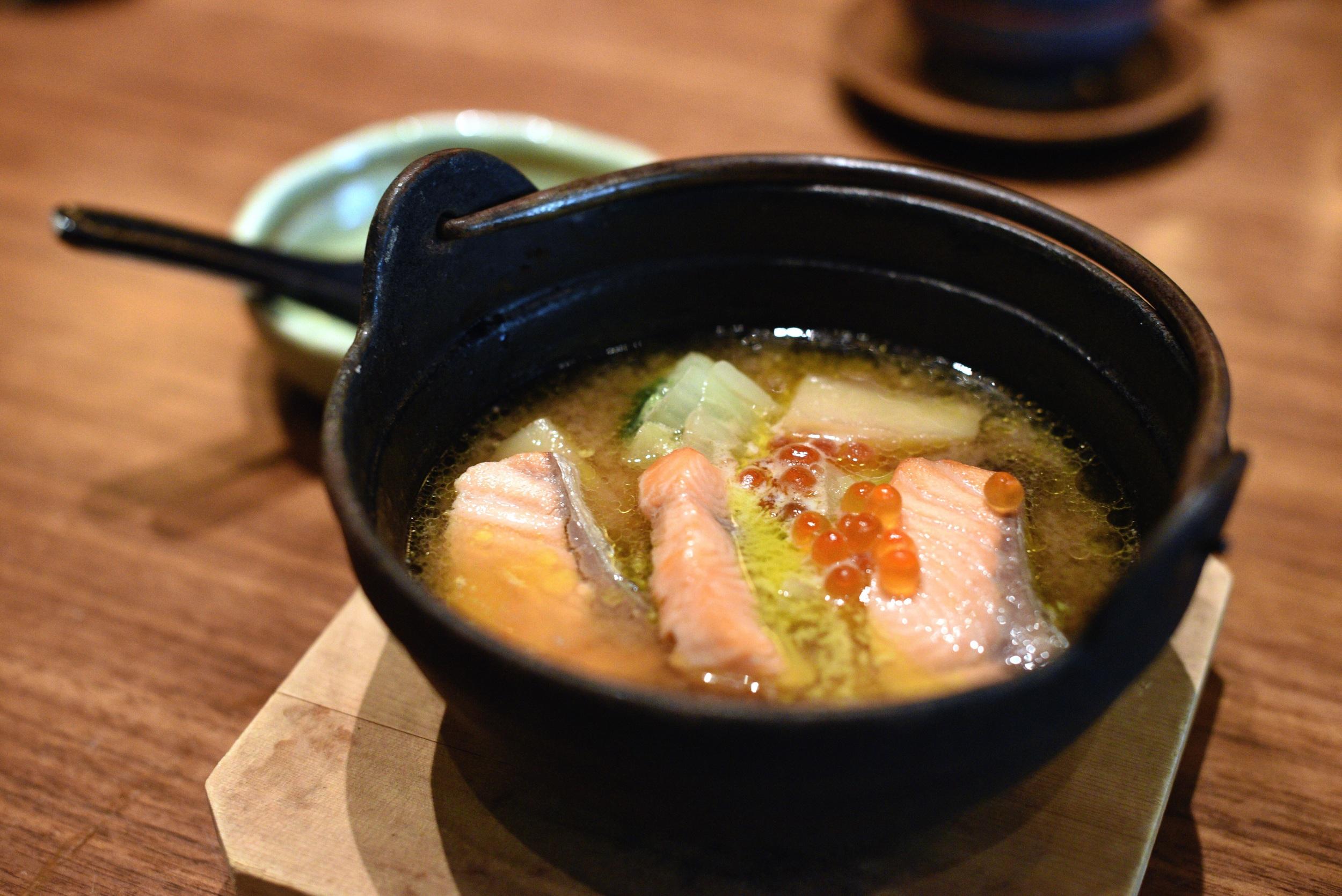 Ishikari Nabe (Salmon Miso Hot Pot)