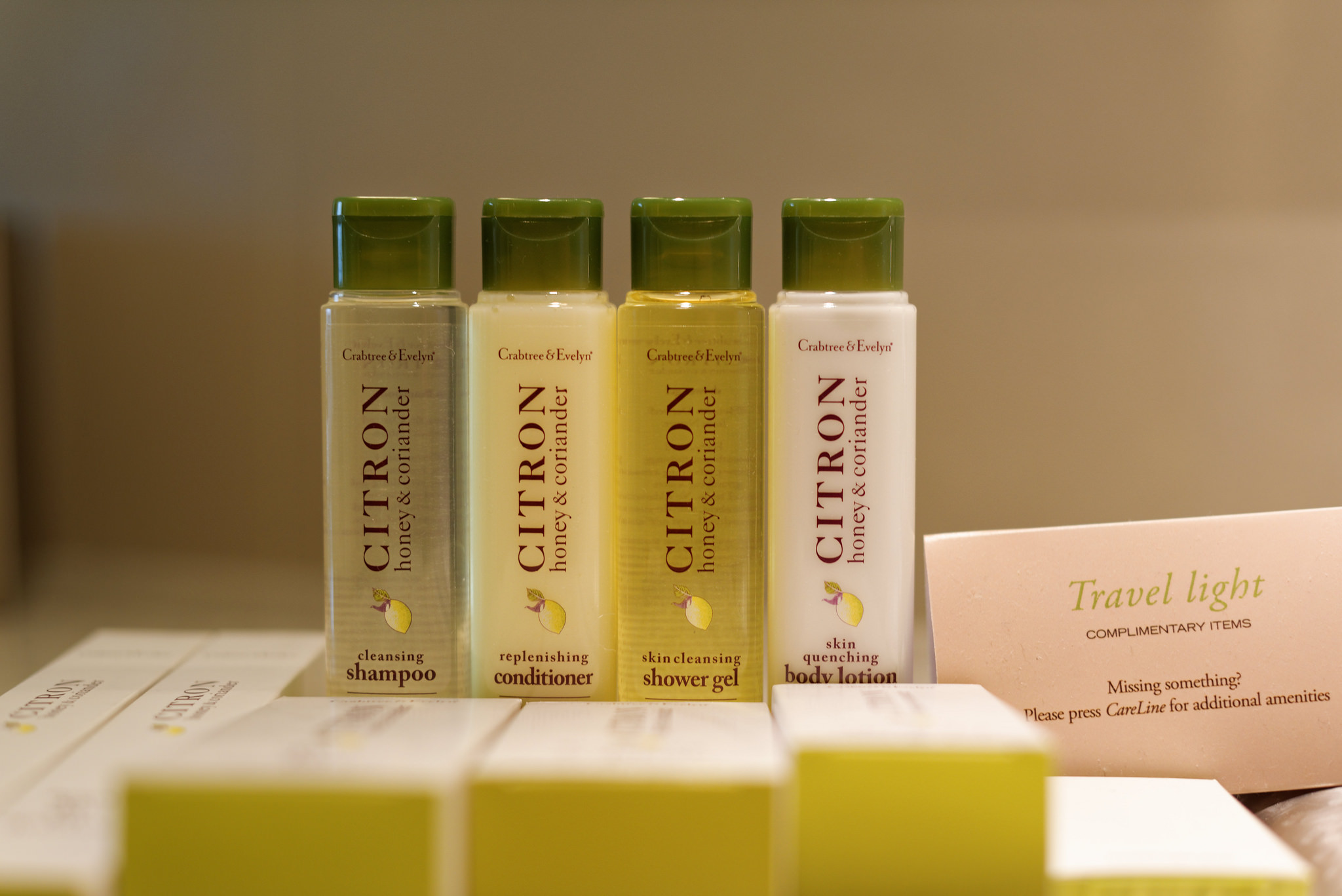 Crabtree & EvelynBath Amenities in the Executive Room in  Doubletree By Hilton Hotel Johor Bahru