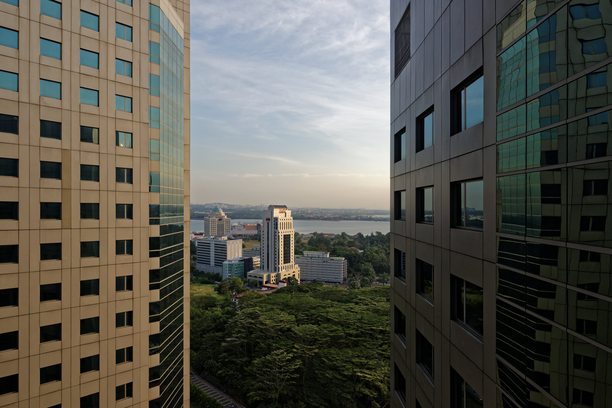View from the Executive Lounge of the Doubletree By Hilton Hotel Johor Bahru