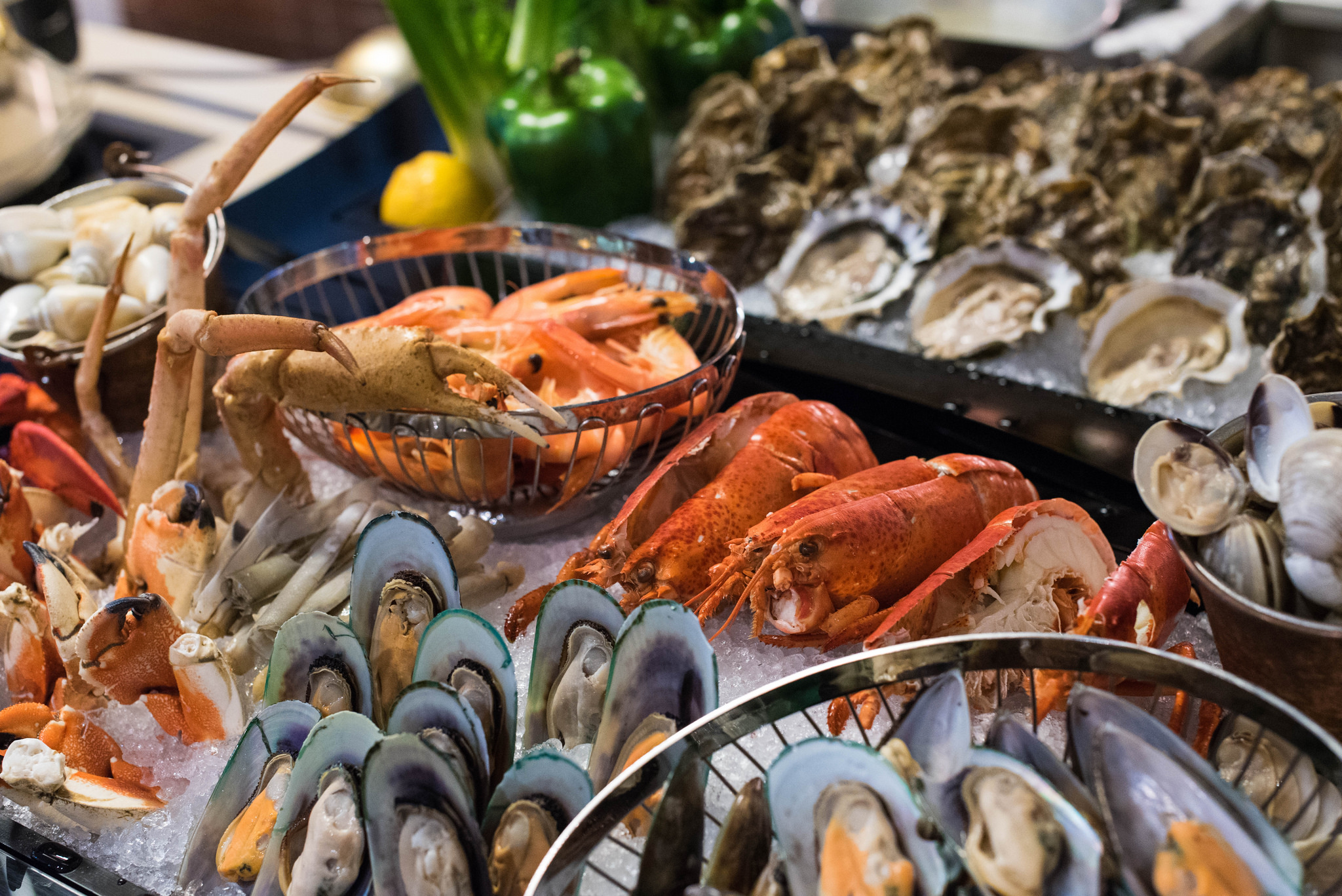 Variety of Fresh Seafood - One Farrer Hotel & Spa (Escape Restaurant)