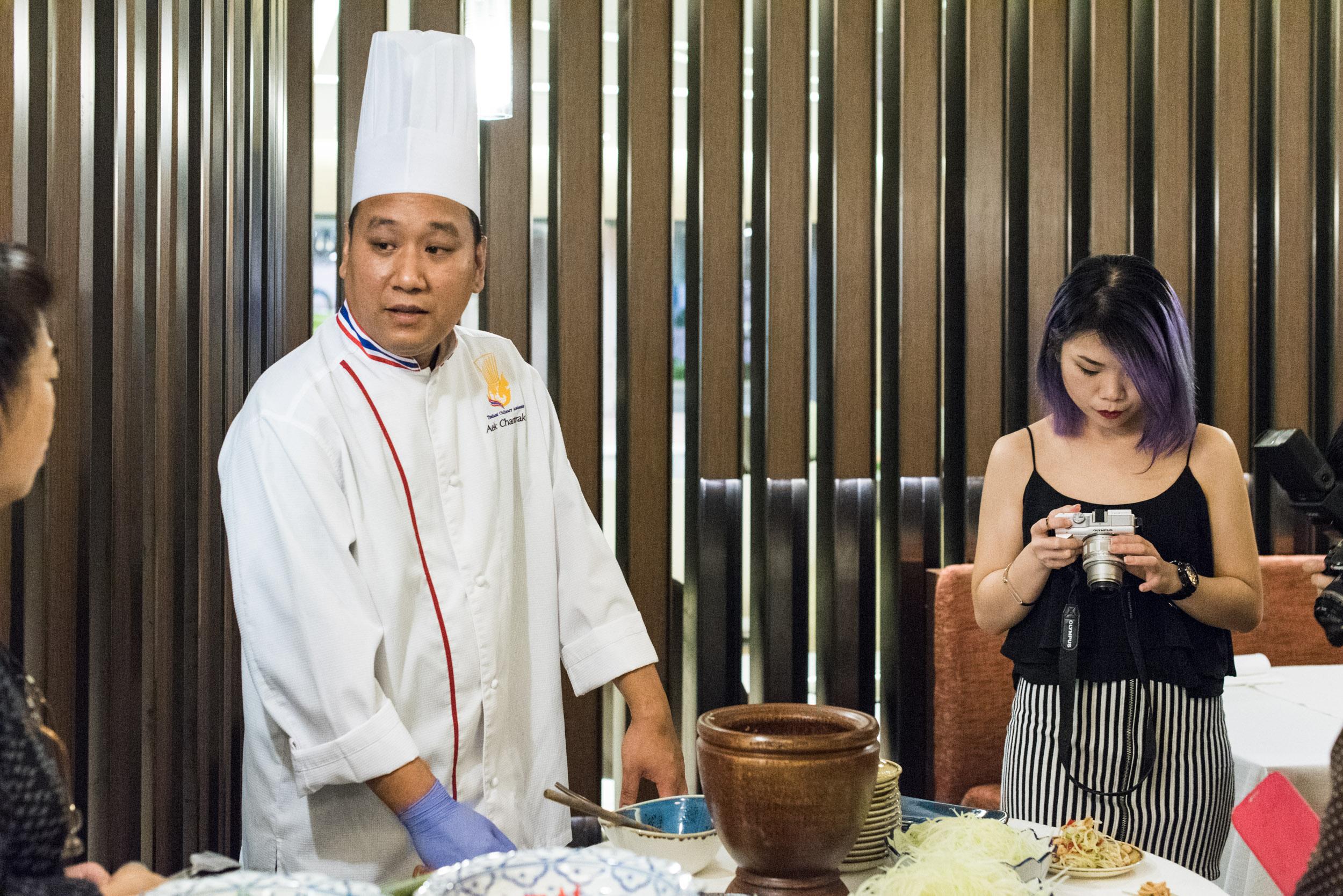 Guest Chef Aek Charttrakul at the One Farrer Hotel & Spa (Escape Restaurant)