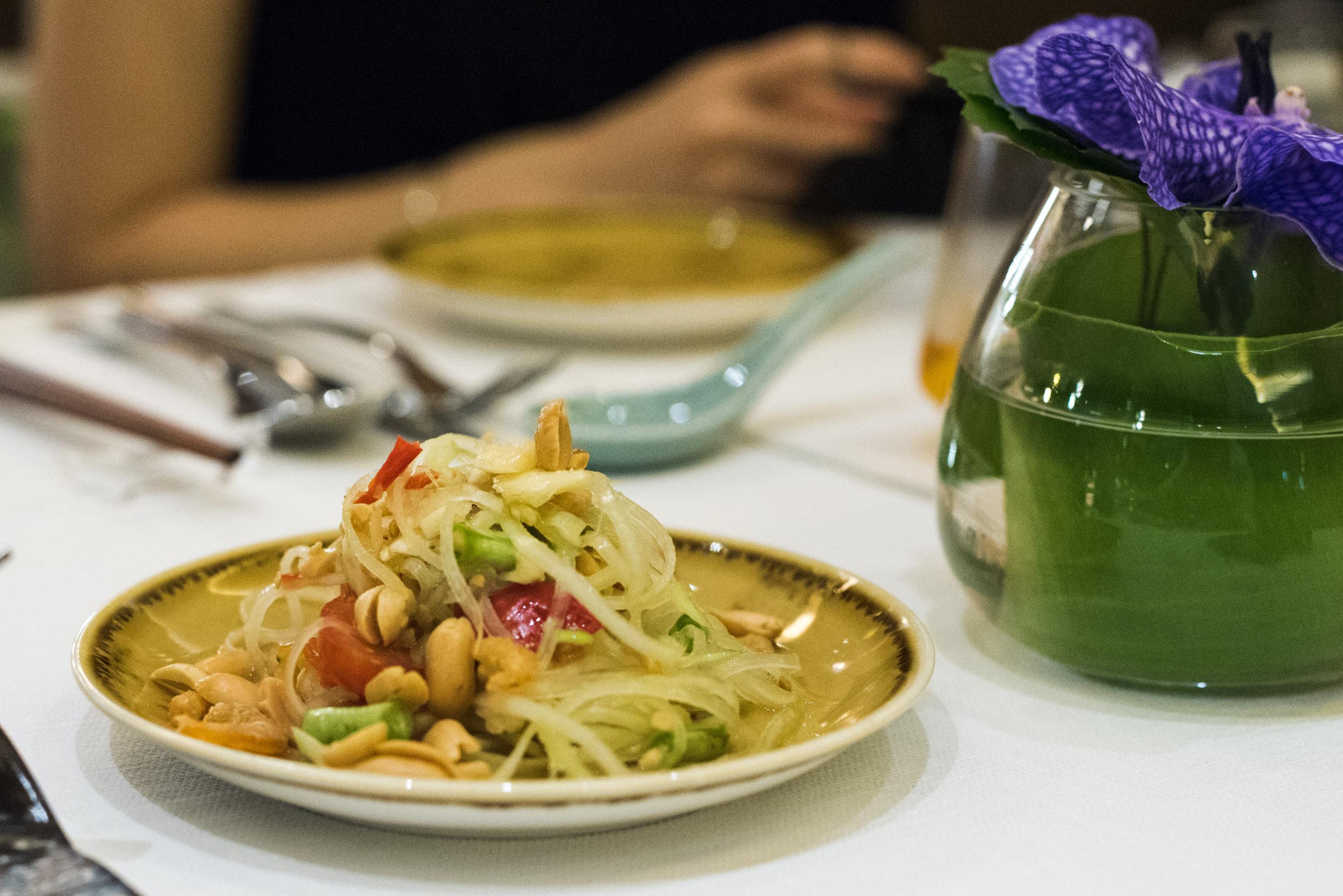 Spicy Papaya Salad - One Farrer Hotel & Spa (Escape Restaurant)