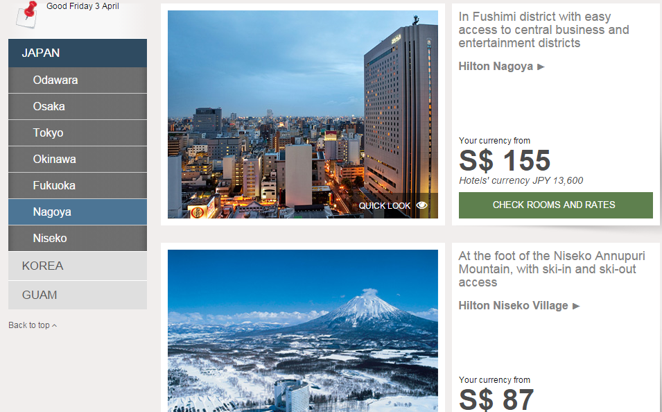 Amazing deals for Hilton properties in Asia-Pacific