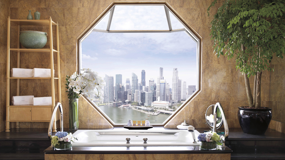 A view to behold from the comfort of your bathtub at the Ritz-Carlton, Millenia Singapore