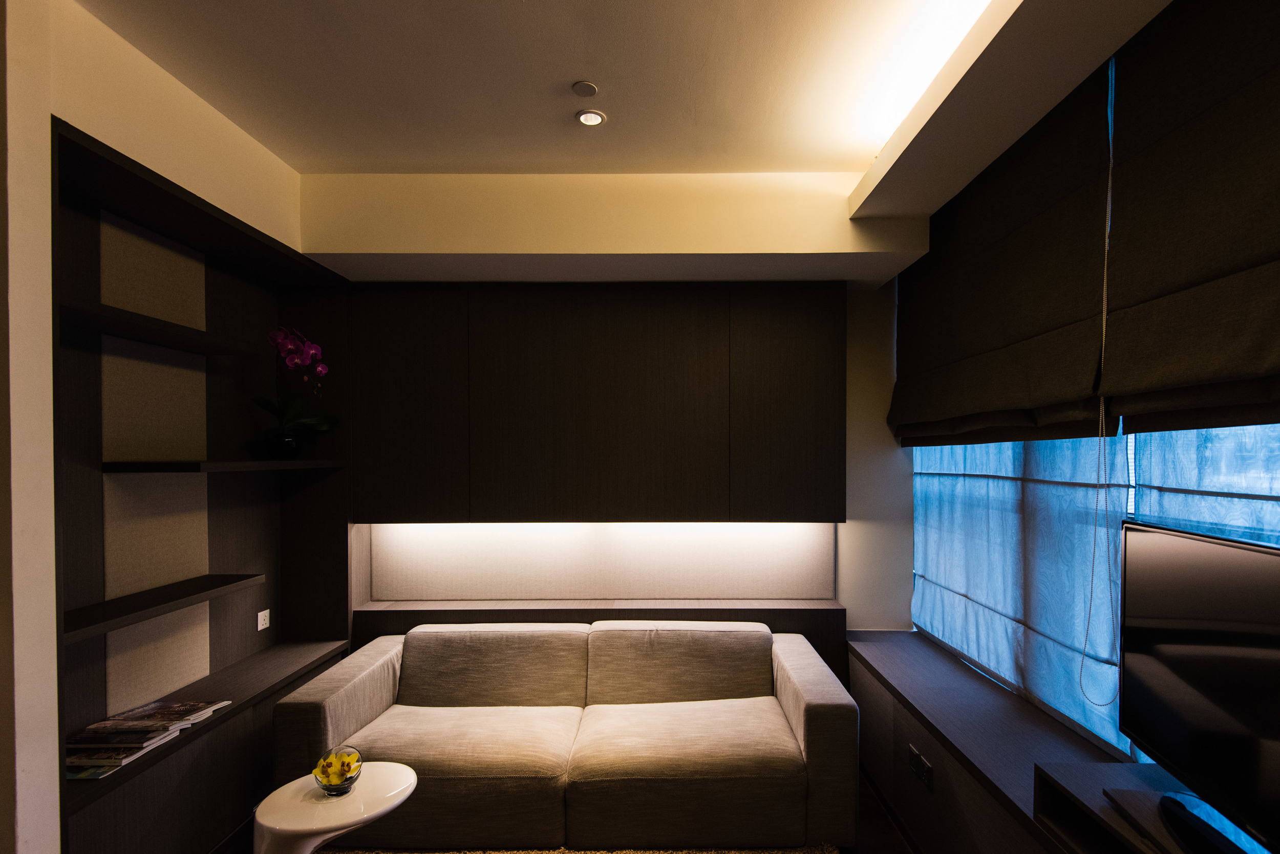 Living Area of the One Bedroom Deluxe Suite