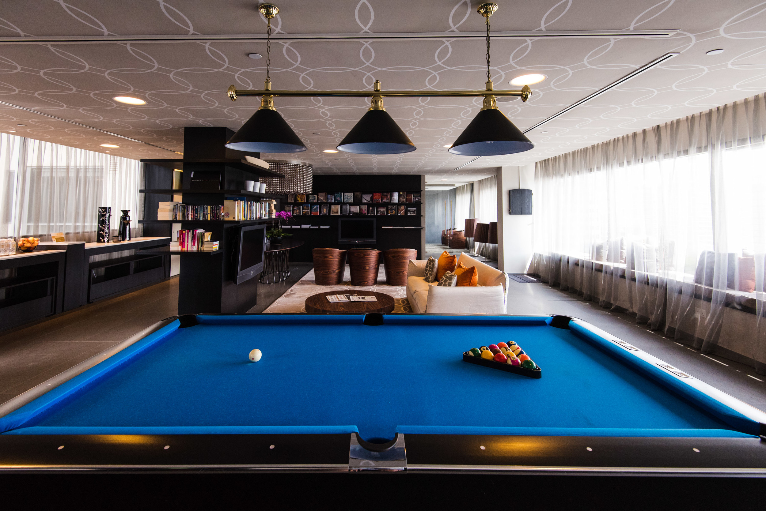 Pool Table in The Living Room