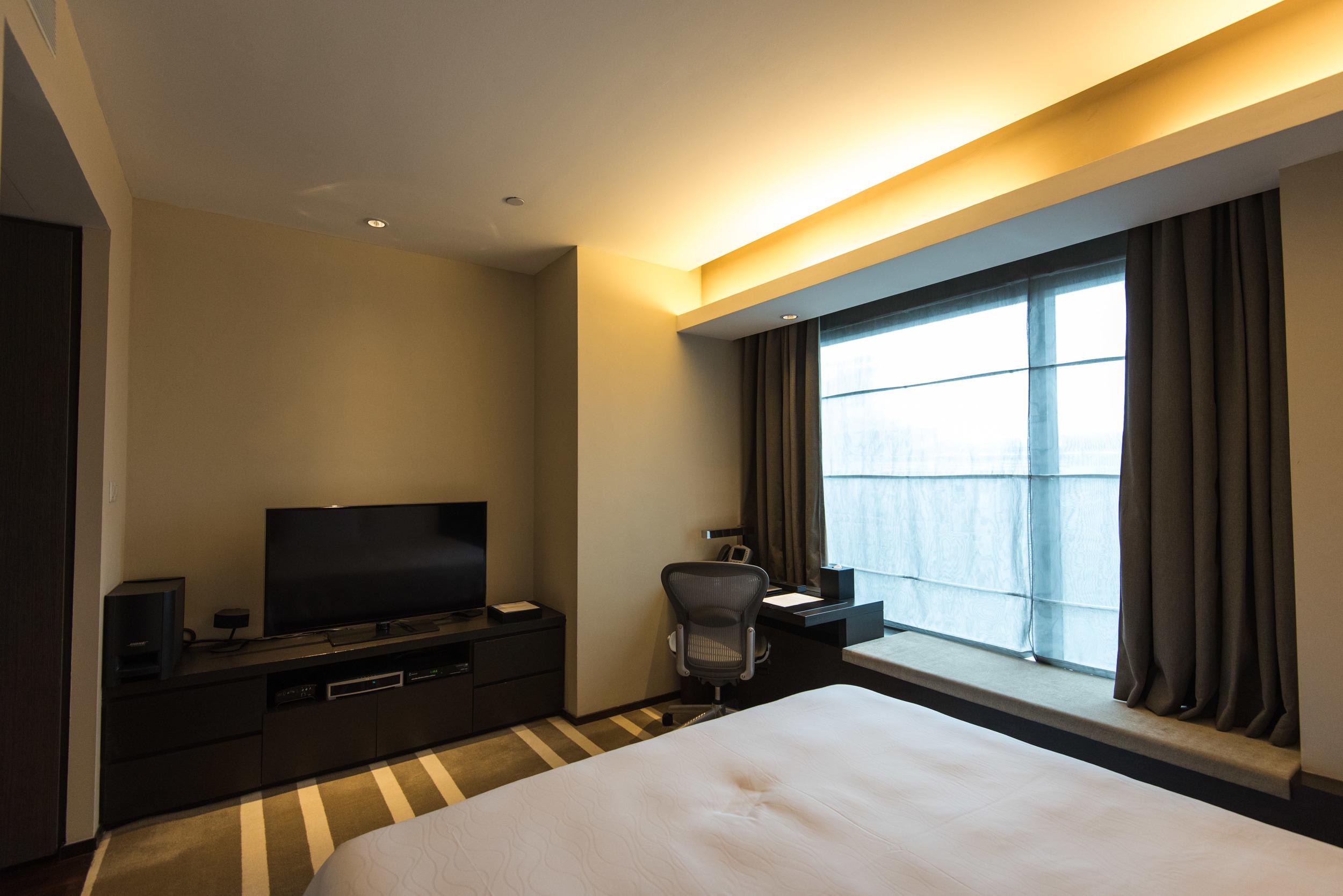 Bedroom of the One Bedroom Deluxe Suite