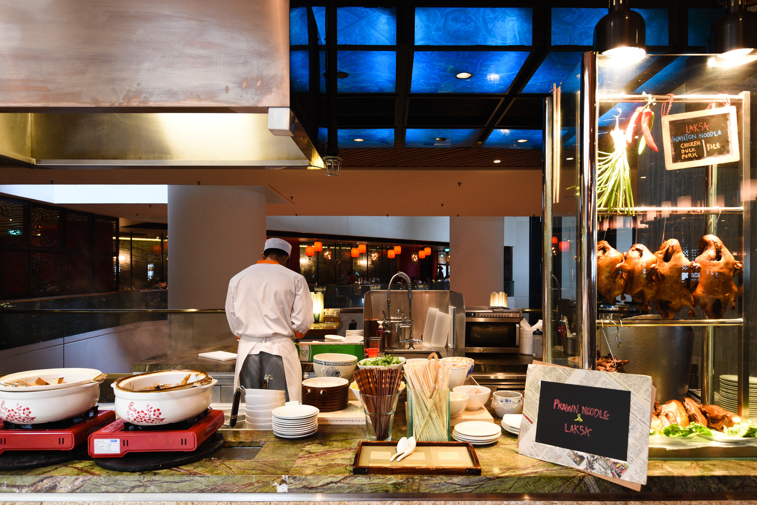 Live Food Kitchen at Edge - Pan Pacific Singapore