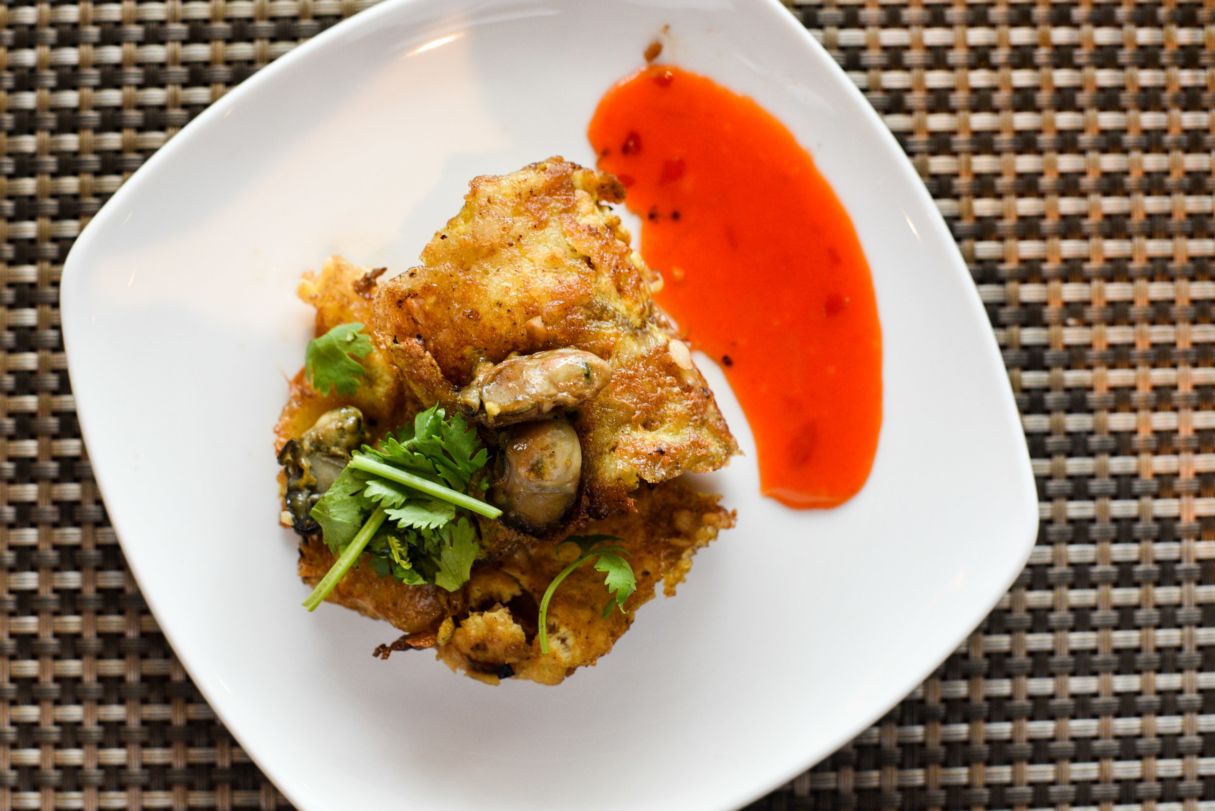 Or Luak - Fried Omelette with Oyster