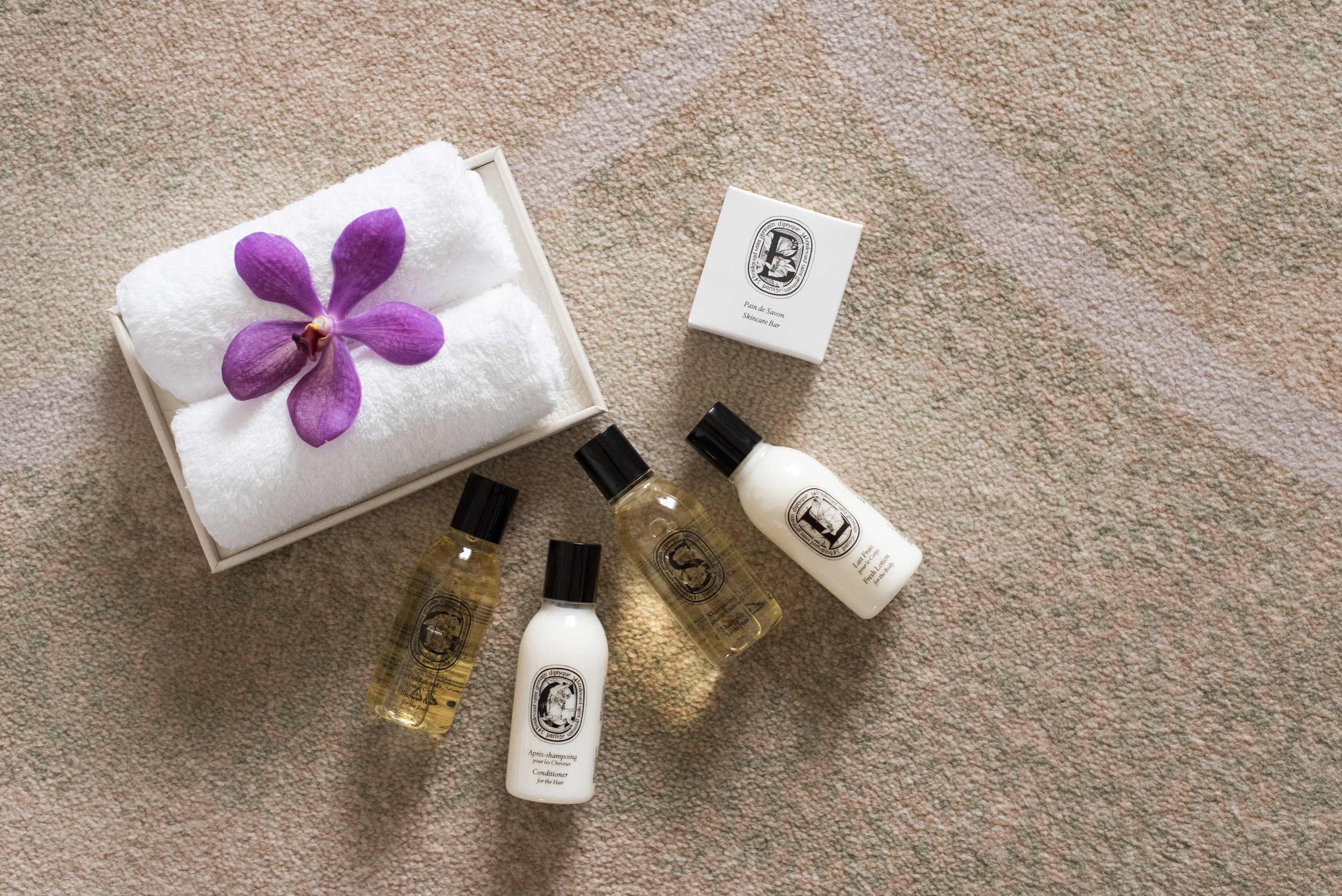 Diptyque Bath Amenities at the Mandarin Oriental, Taipei