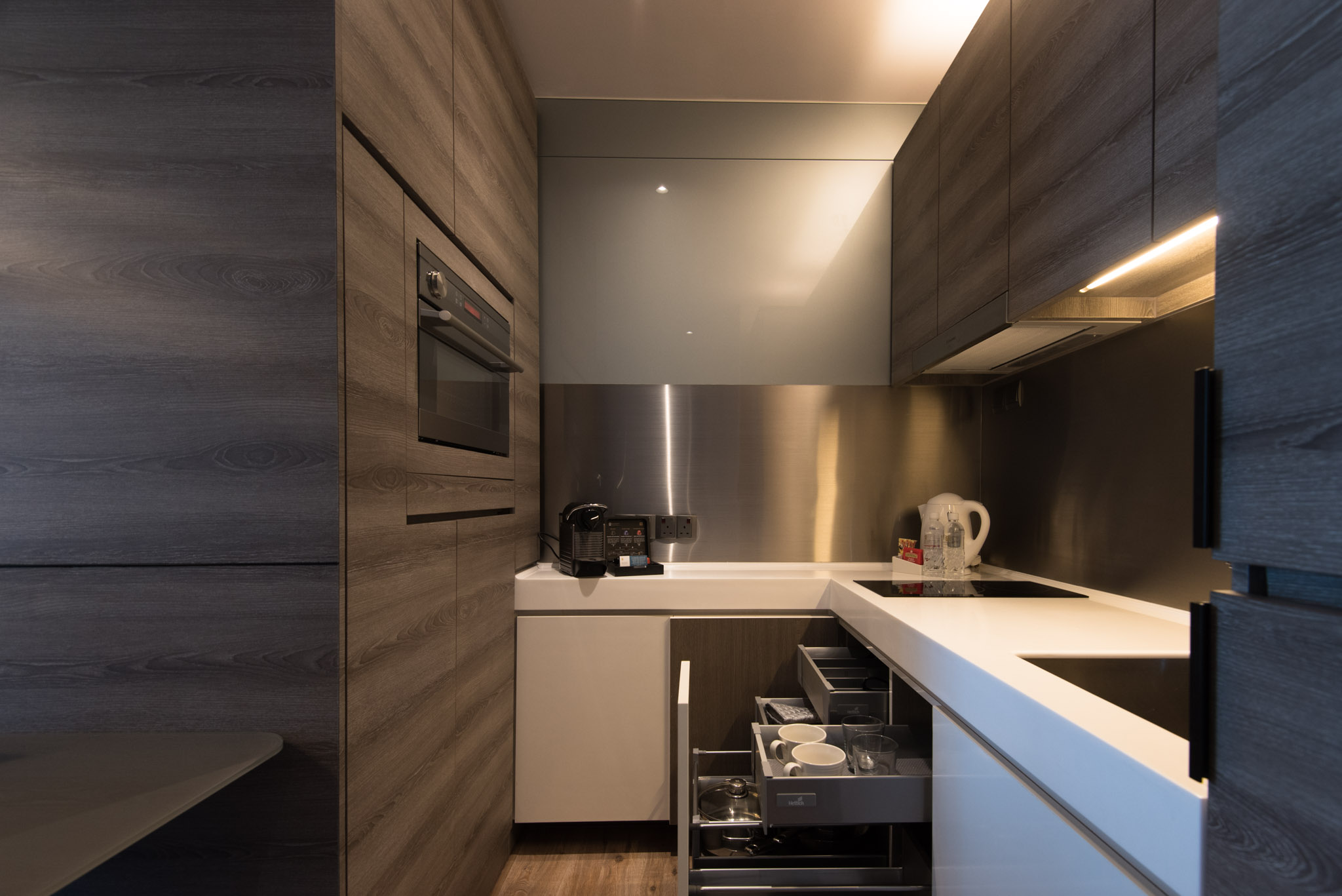 One Bedroom Premium Suite (Kitchen) of the Pan Pacific Serviced Suites Beach Road