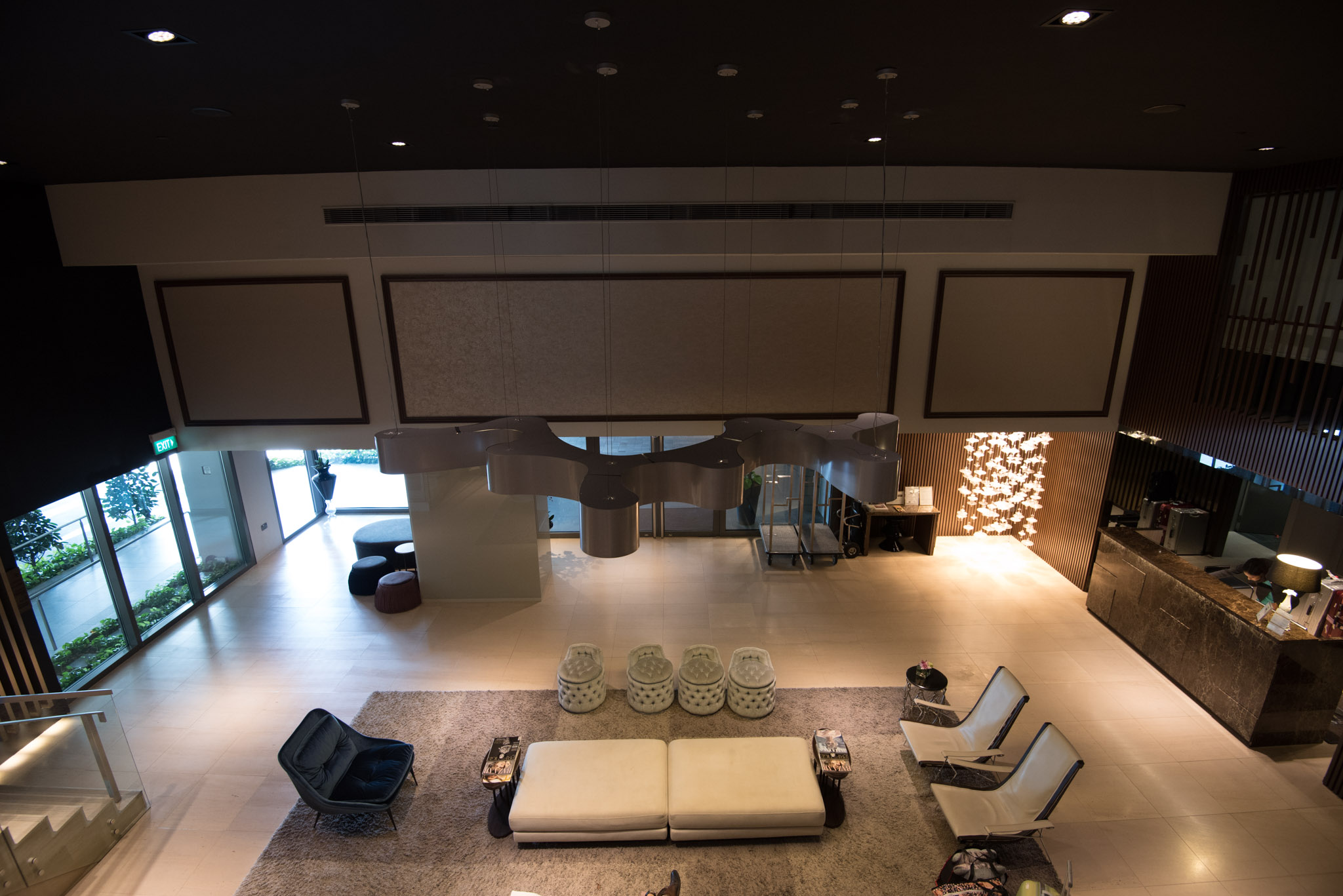 Lobby of the Pan Pacific Serviced Suites Beach Road