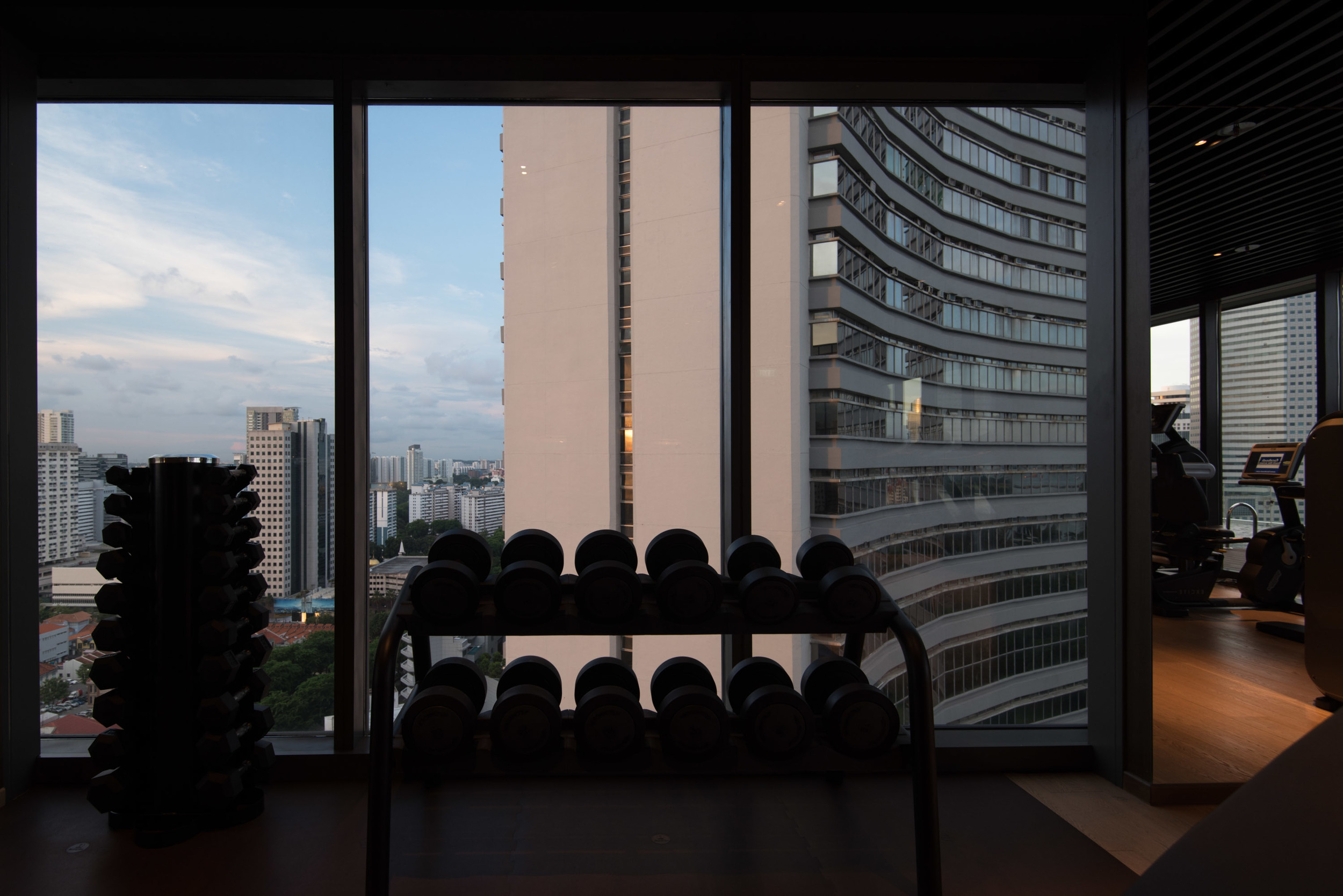 Gym ofthe Pan Pacific Serviced Suites Beach Road
