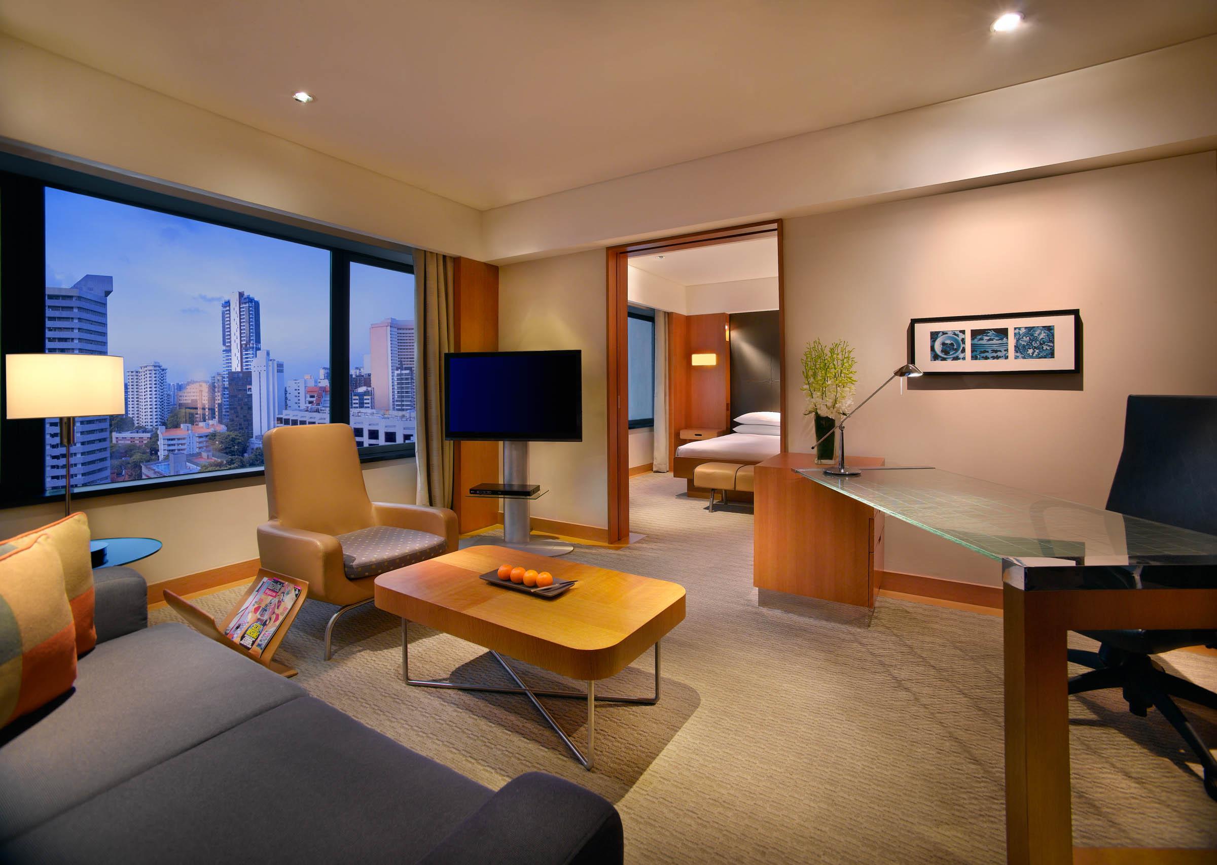 Grand Deluxe Room | Photo Credit: Grand Hyatt Singapore