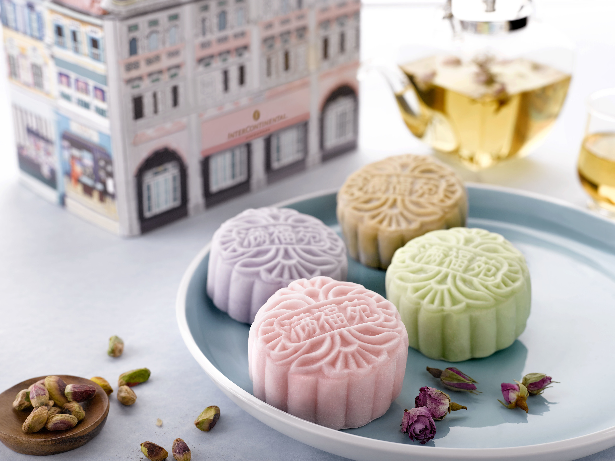 Snowskin Tea Mooncake Selection (冰皮精选茶系列月饼) - S$66 for 4 Pieces