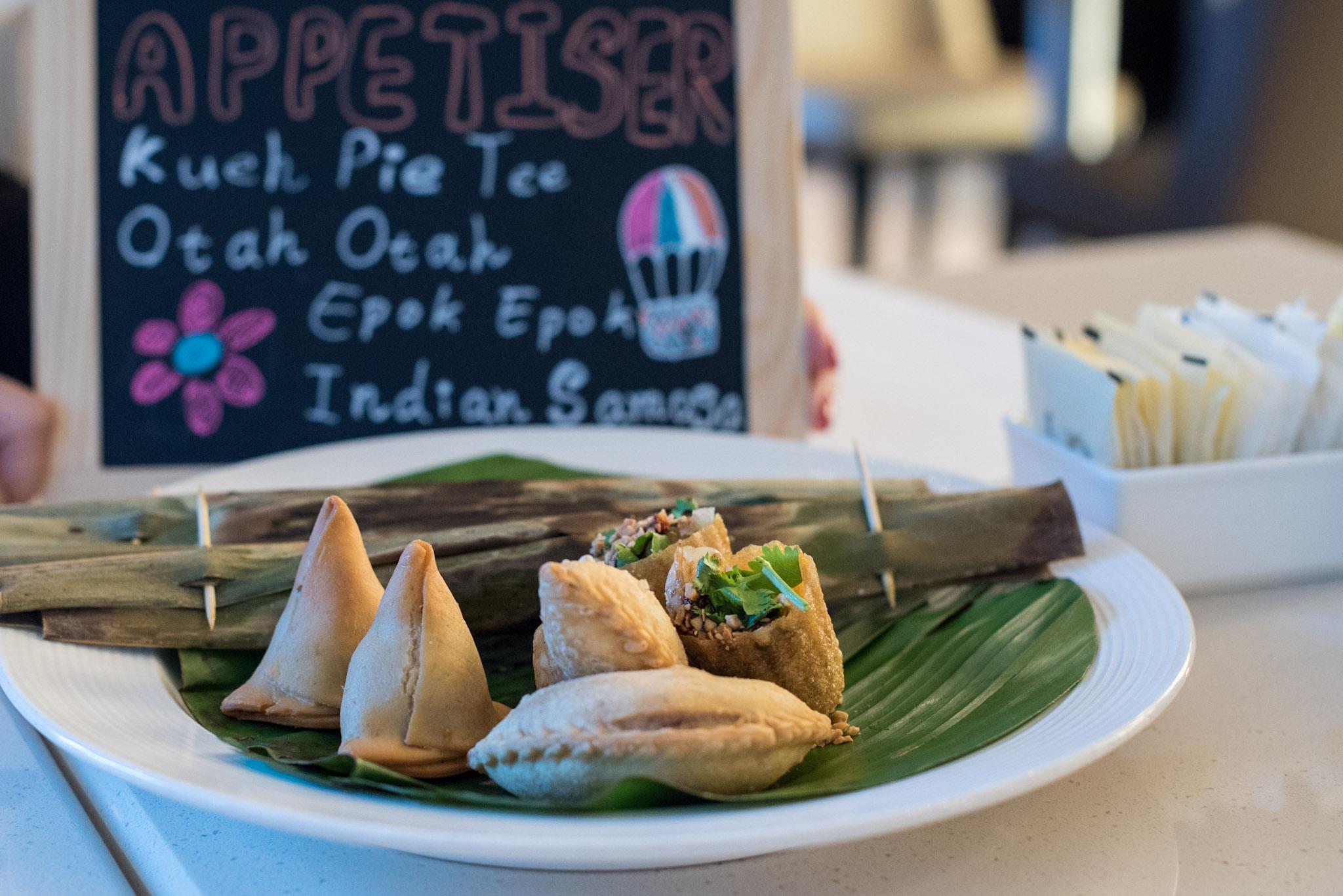 Appetisers at the 'Taste of Singapura' buffet