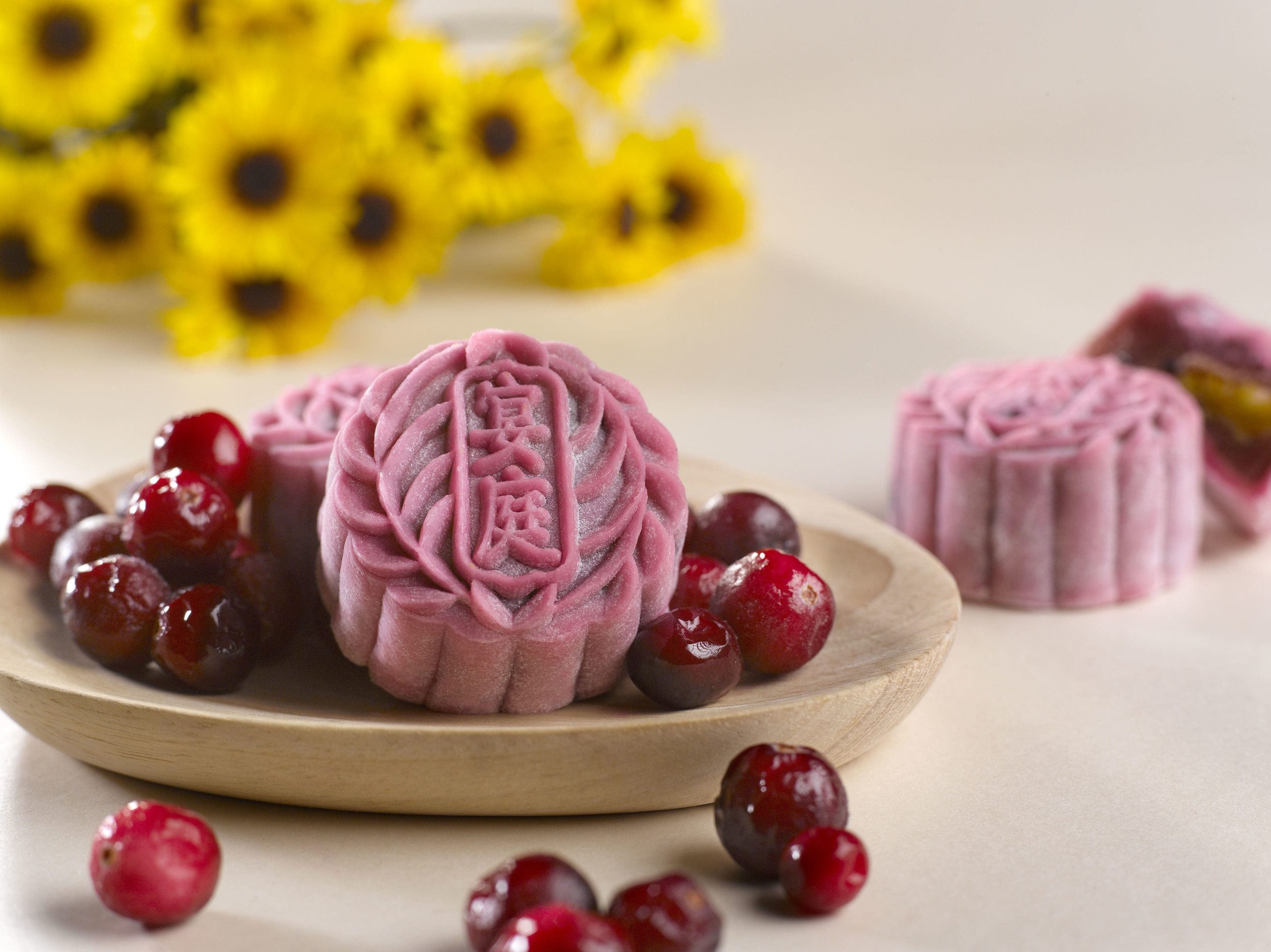 Cranberry Paste with Salted Egg Yolk Mooncake (S$73+ for a box of 8) | Photo Credit: The St. Regis Singapore