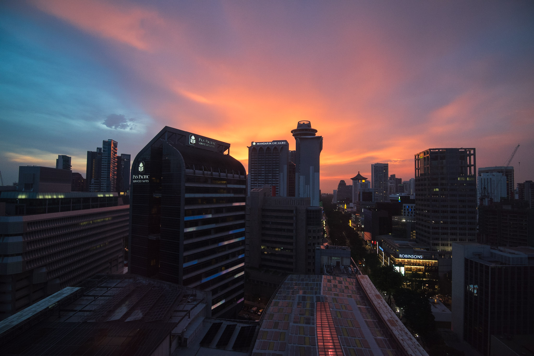 View from the Deluxe Room - Hotel Jen Orchardgateway Singapore