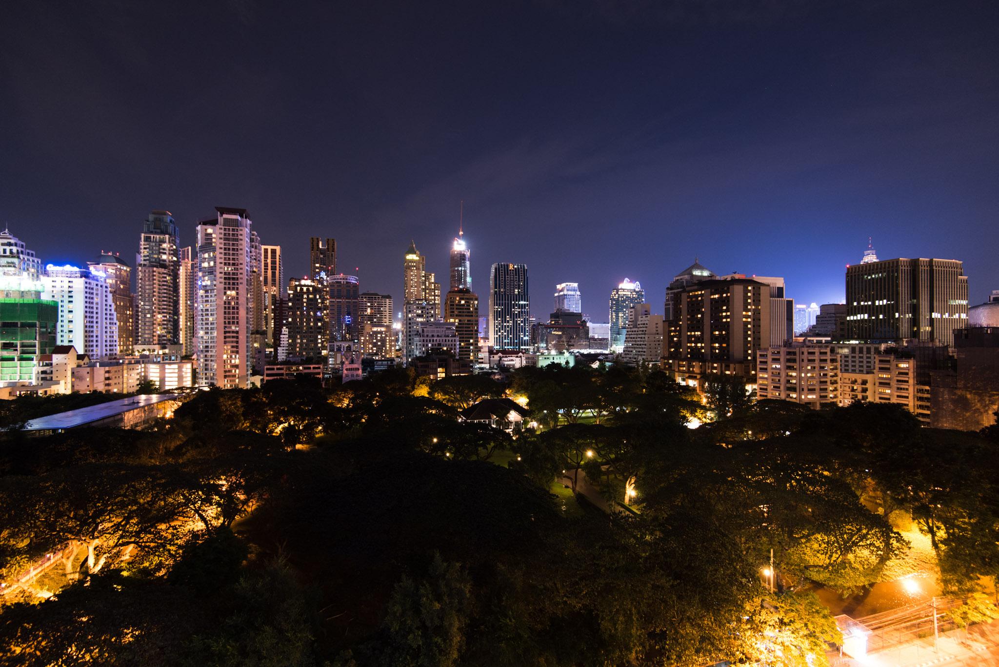 Night View from the Chaiyapruek Executive Room - Hotel Indigo Bangkok Wireless Road