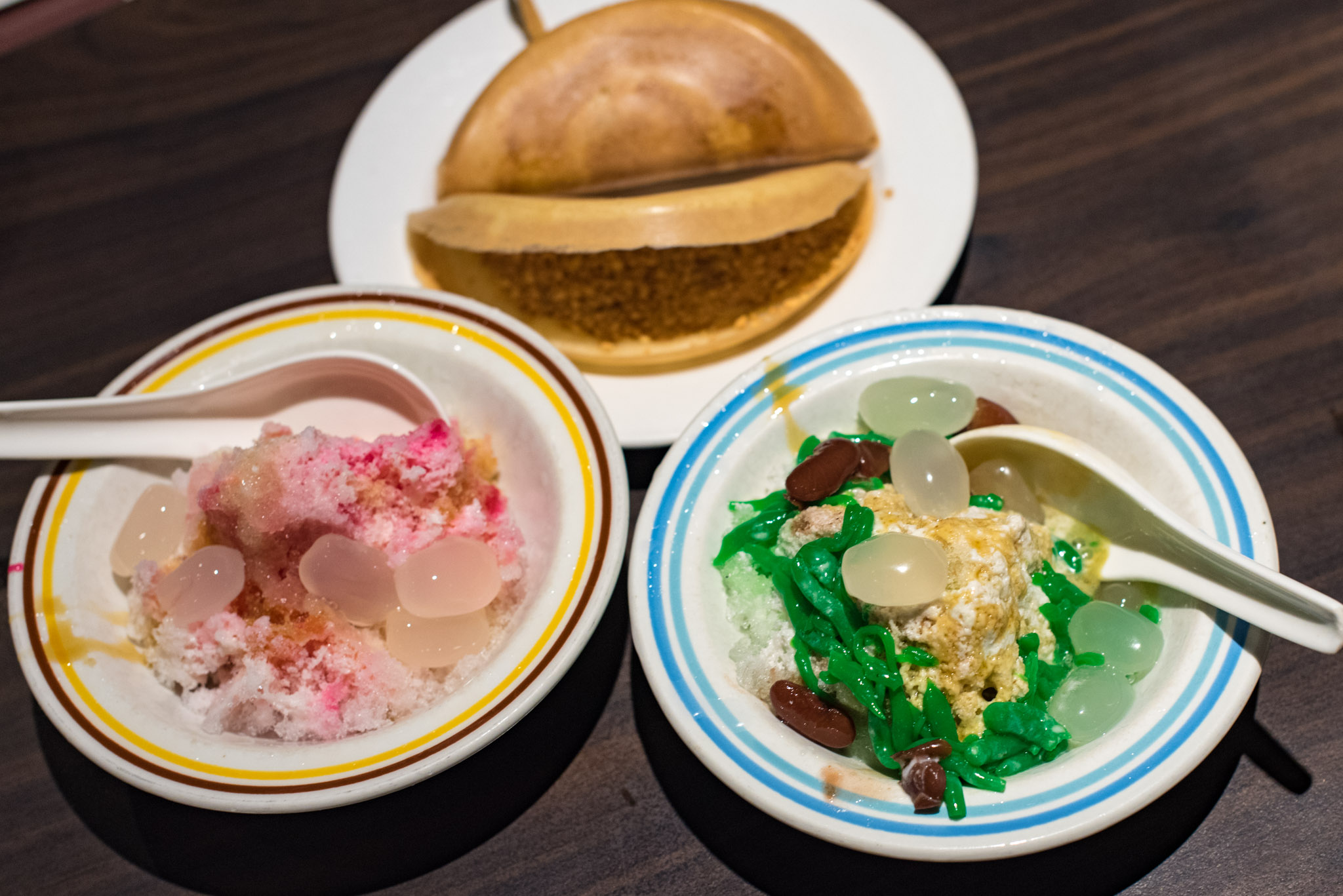 LEFT: Ice Kachang   RIGHT: Chendol Penang Hawkers' Fare - York Hotel