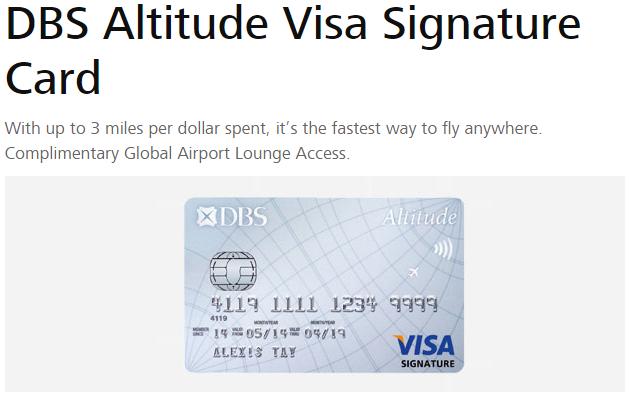 DBS Altitude Visa Signature Card | Photo Credit: DBS