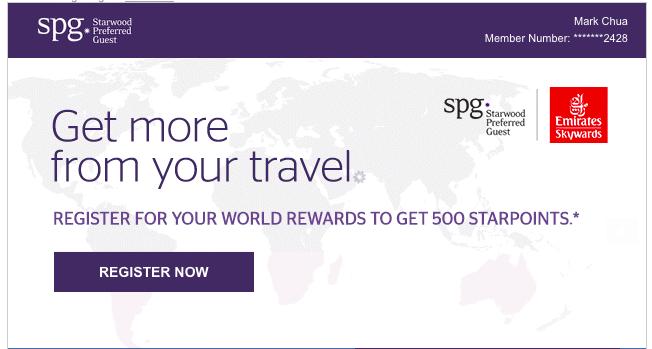 500 Bonus Starpoints with Emirates Skywards