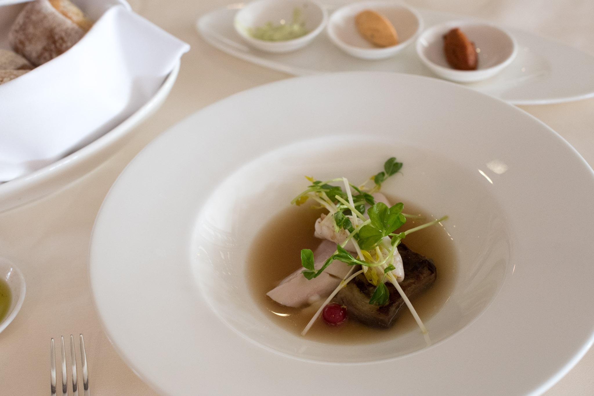 Squid, Rabbit, Eggplant  Dolce Vita - Mandarin Oriental, SIngapore