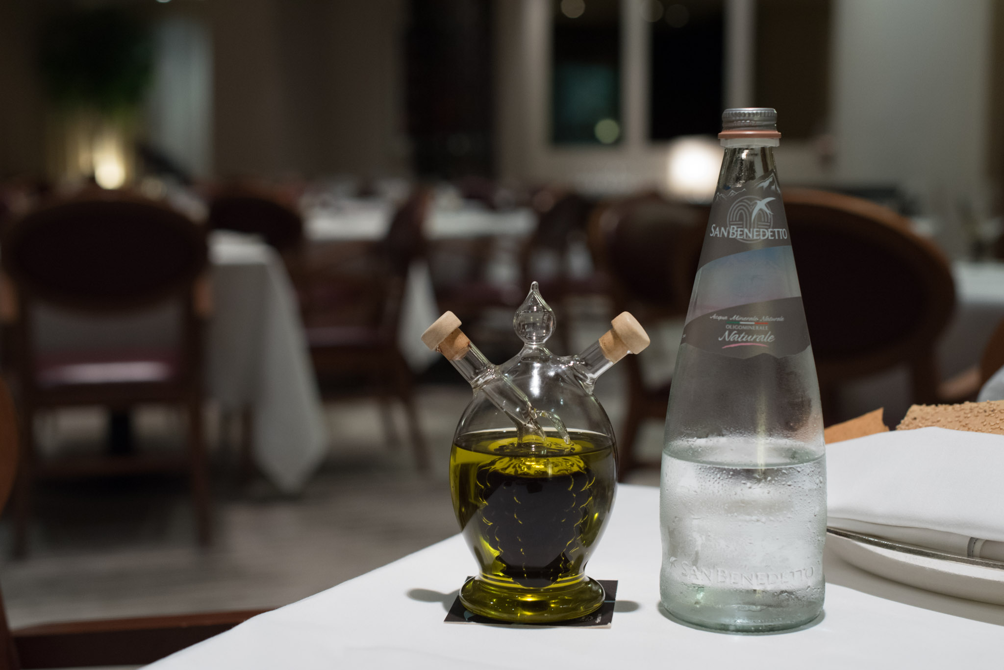 Olive Oil and Water  DOMVS, The Italian Restaurant - Sheraton Towers Singapore