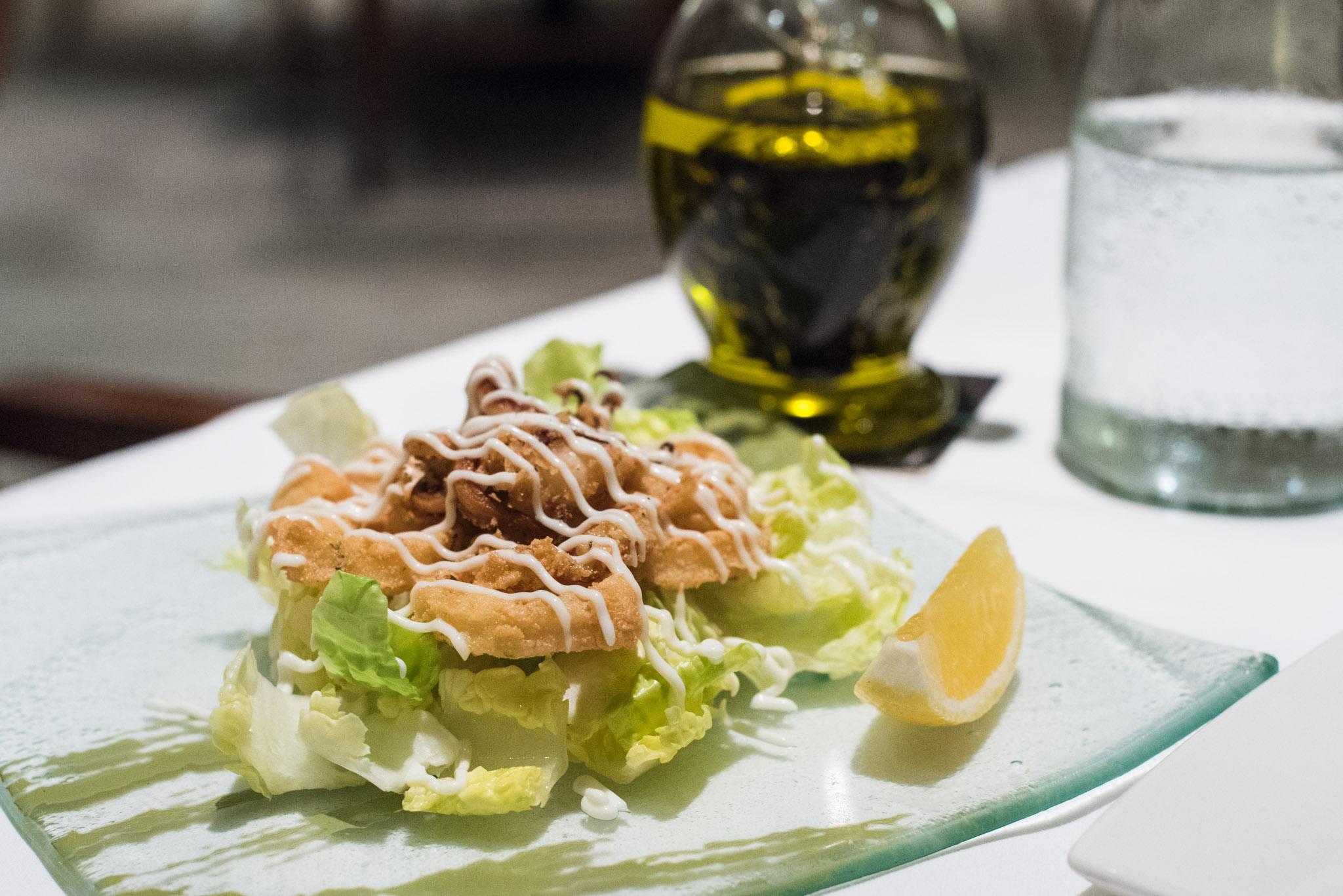 Calamari Salad  DOMVS, The Italian Restaurant - Sheraton Towers Singapore