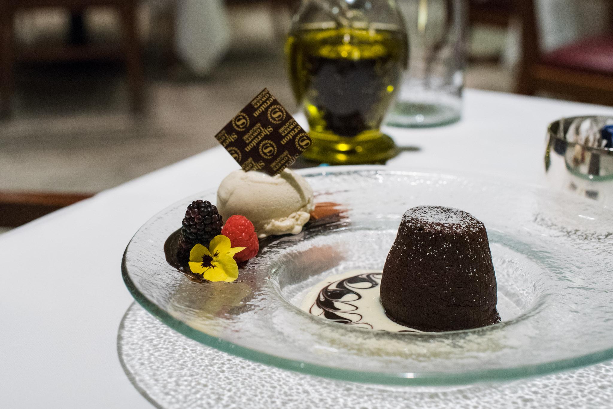 Molten Chocolate Lava Cake  DOMVS, The Italian Restaurant - Sheraton Towers Singapore