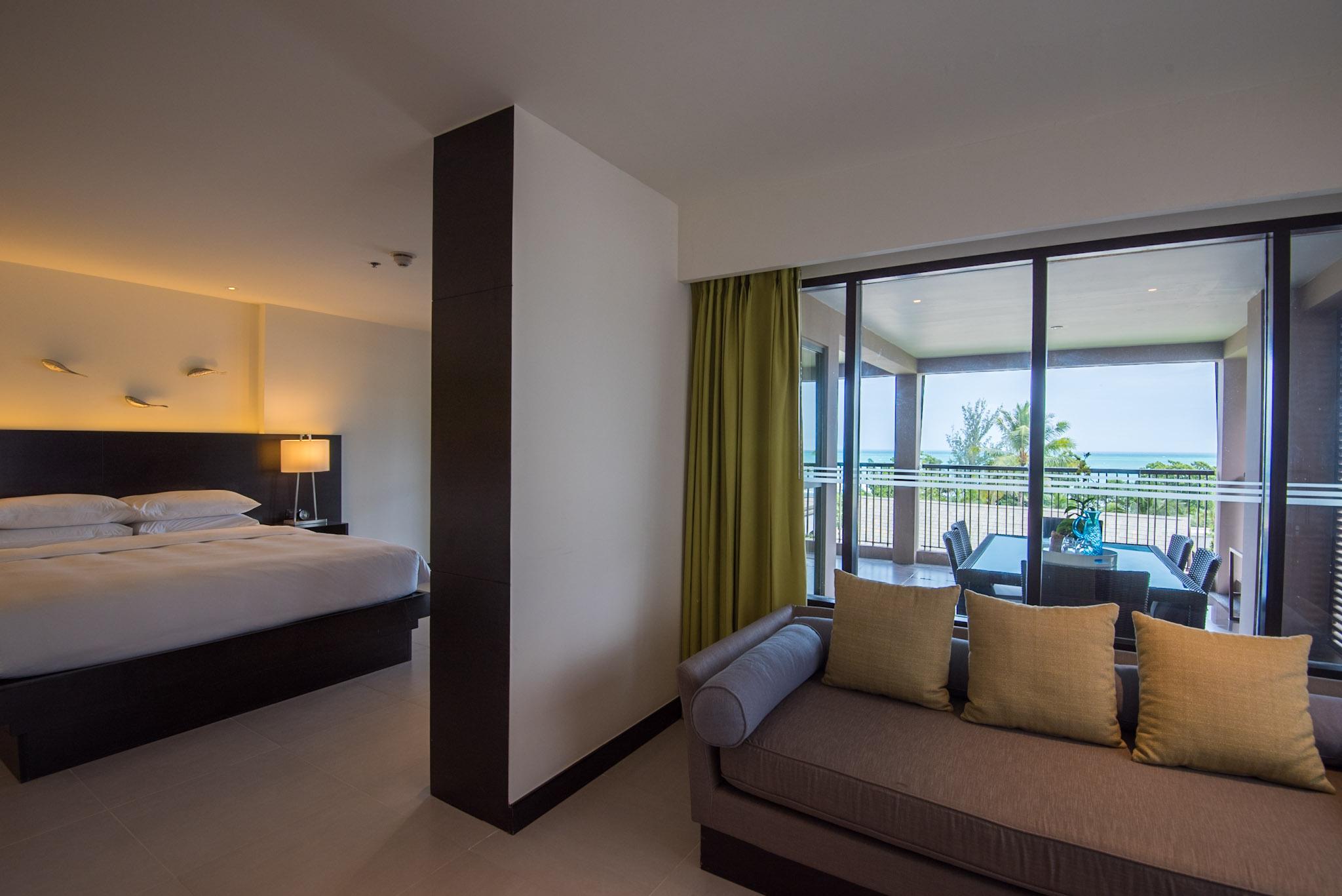 Master Bedroom and Living Area  Deluxe Two Bedroom - Hyatt Regency Phuket Resort