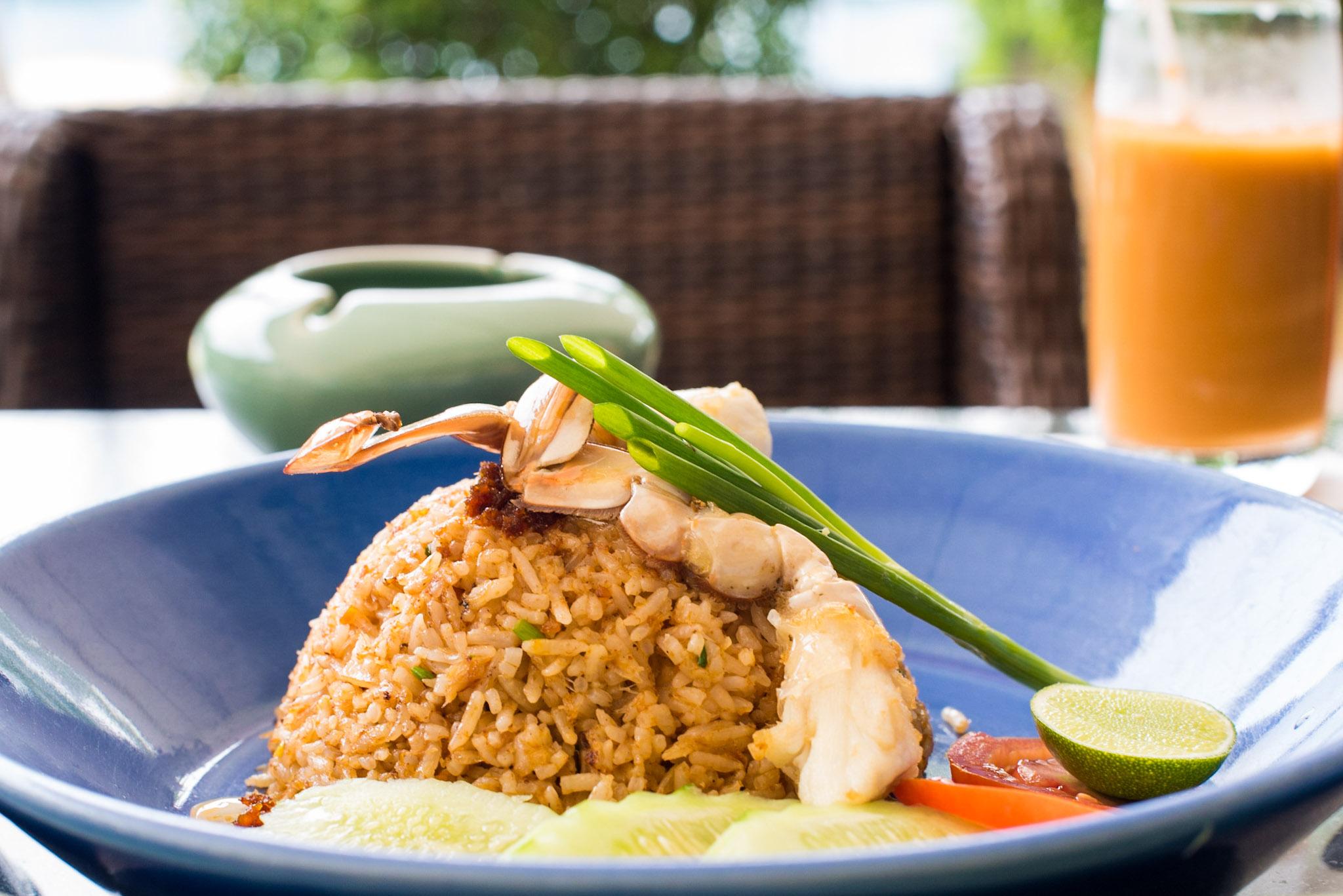 """Khao Phad Erawan"" (Fried Rice, Crabmeat, Crab Roe and Chili Paste)  The Pool House - Hyatt Regency Phuket Resort"