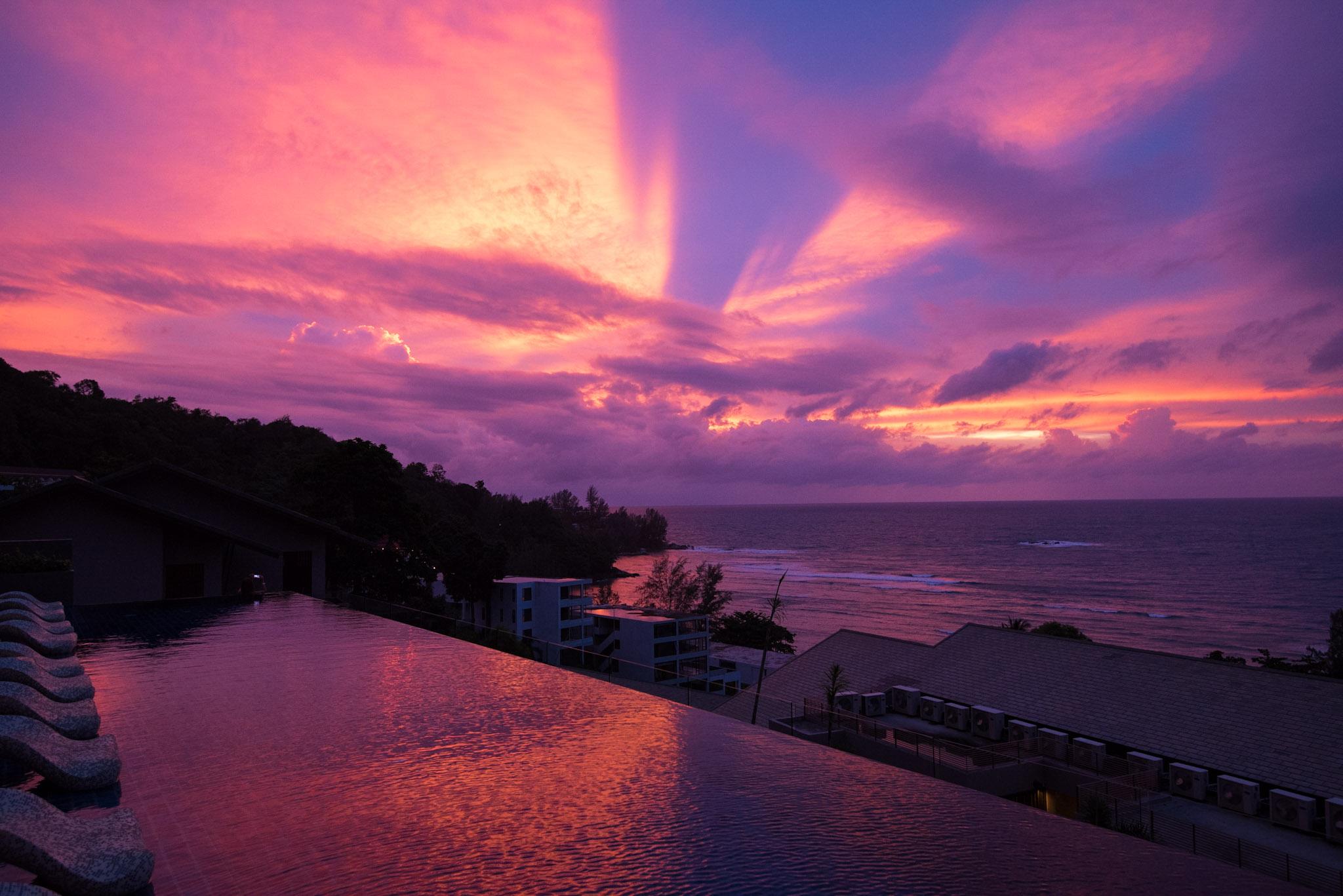 Sunset at the Regency Club The Pool Bar - Hyatt Regency Phuket Resort