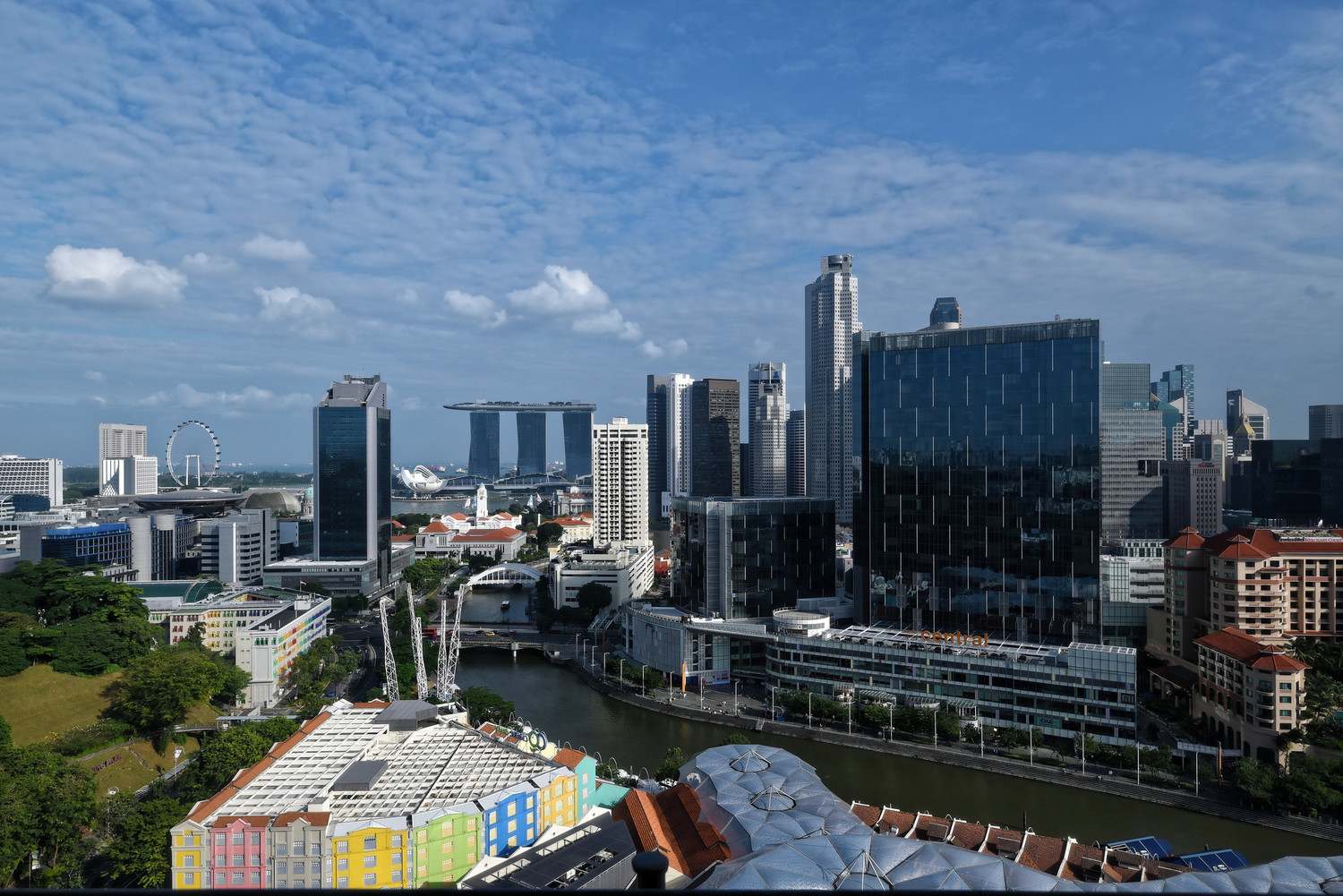 View from the Room Novotel Singapore Clarke Quay