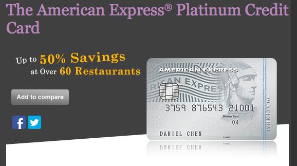 American Express Platinum Credit Card   Photo Credit: American Express Singapore